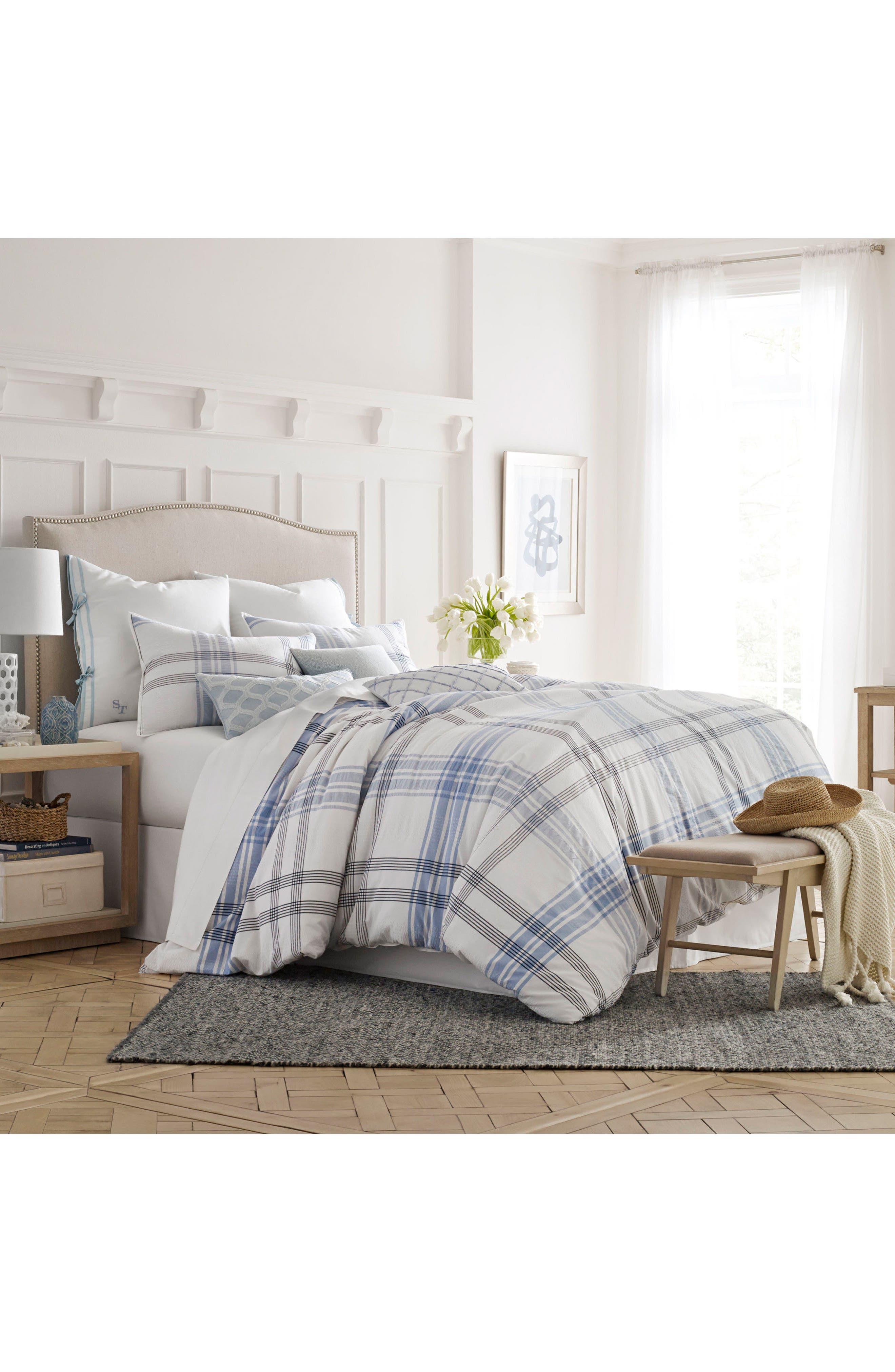 Sea Breeze Comforter & Sham Set,                             Main thumbnail 1, color,                             White Multi