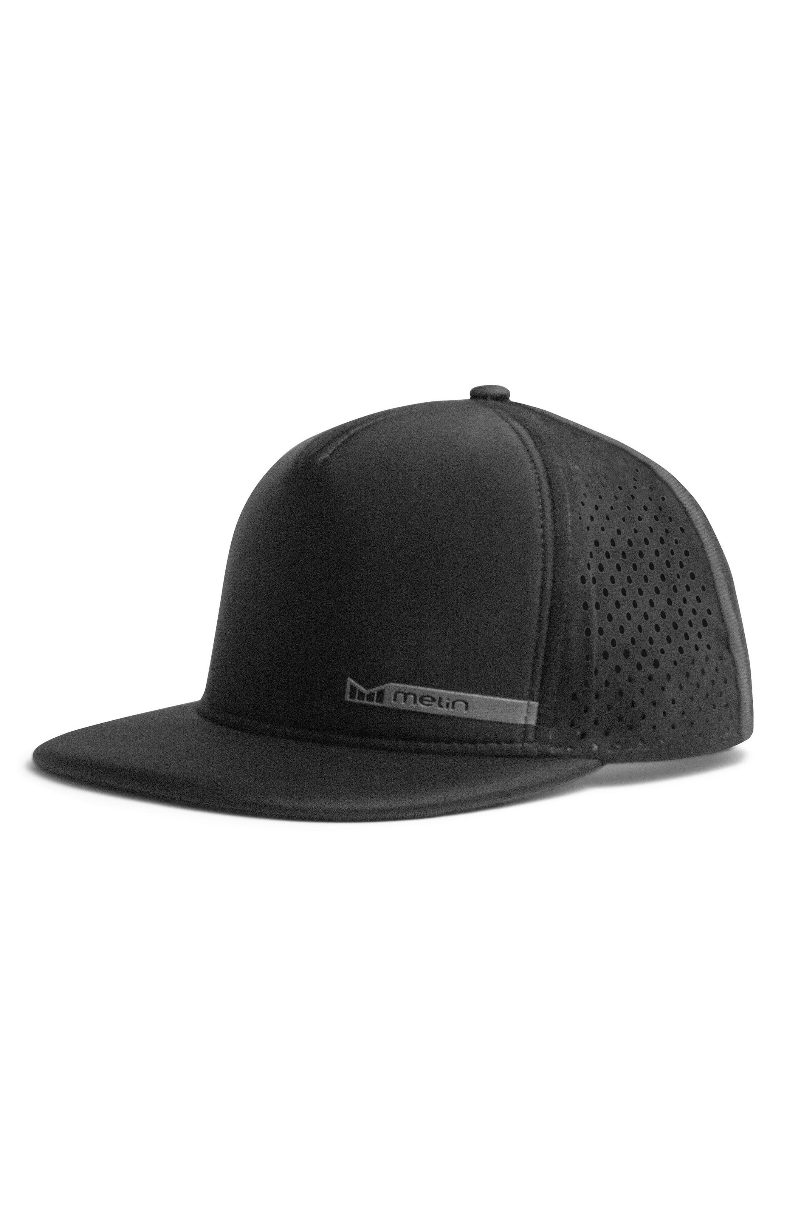 'Amphibian' Split Fit Snapback Baseball Cap,                             Main thumbnail 1, color,                             Black/ Black
