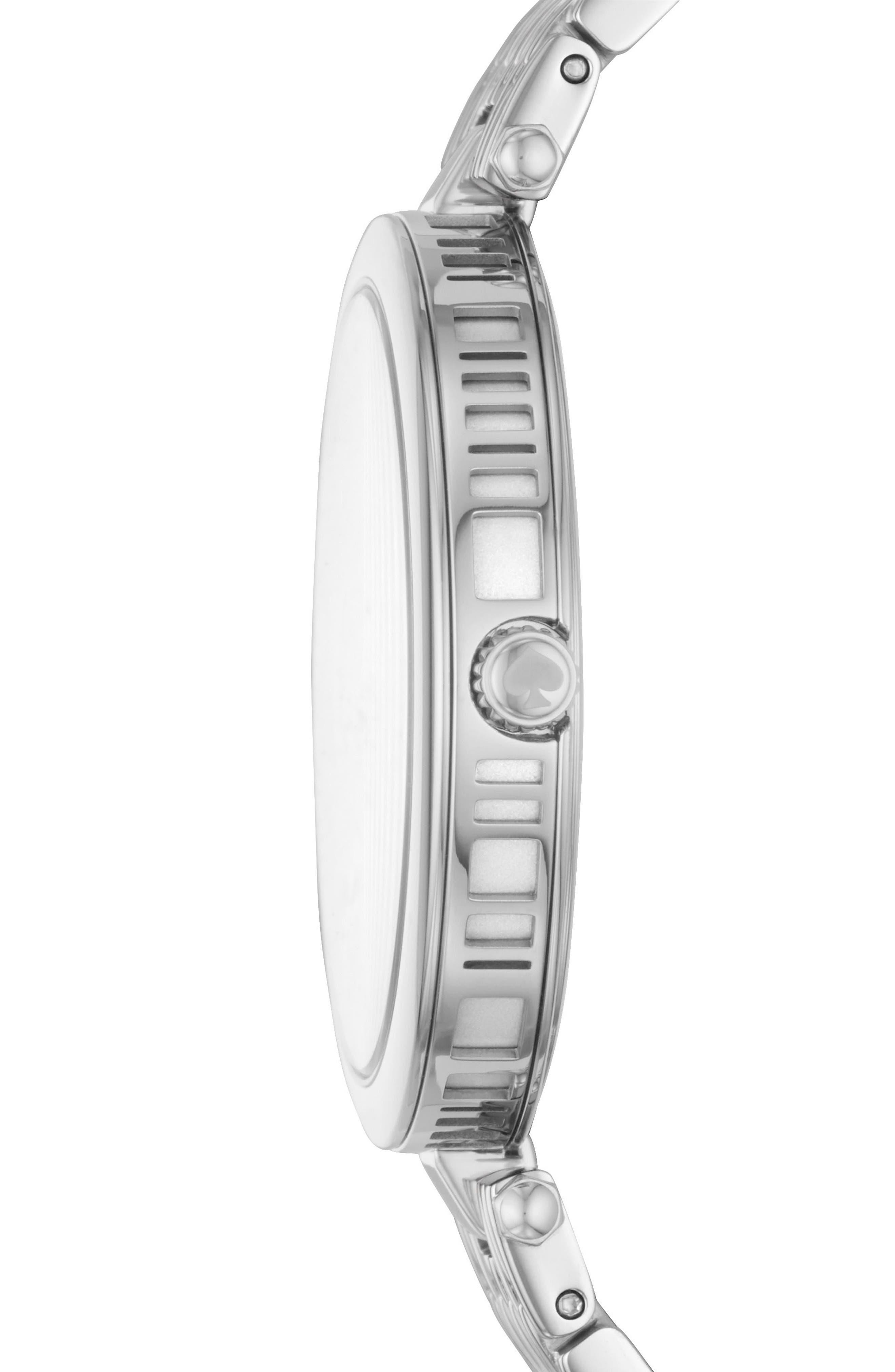 kate space new york varick bracelet watch, 36mm,                             Alternate thumbnail 2, color,                             Silver
