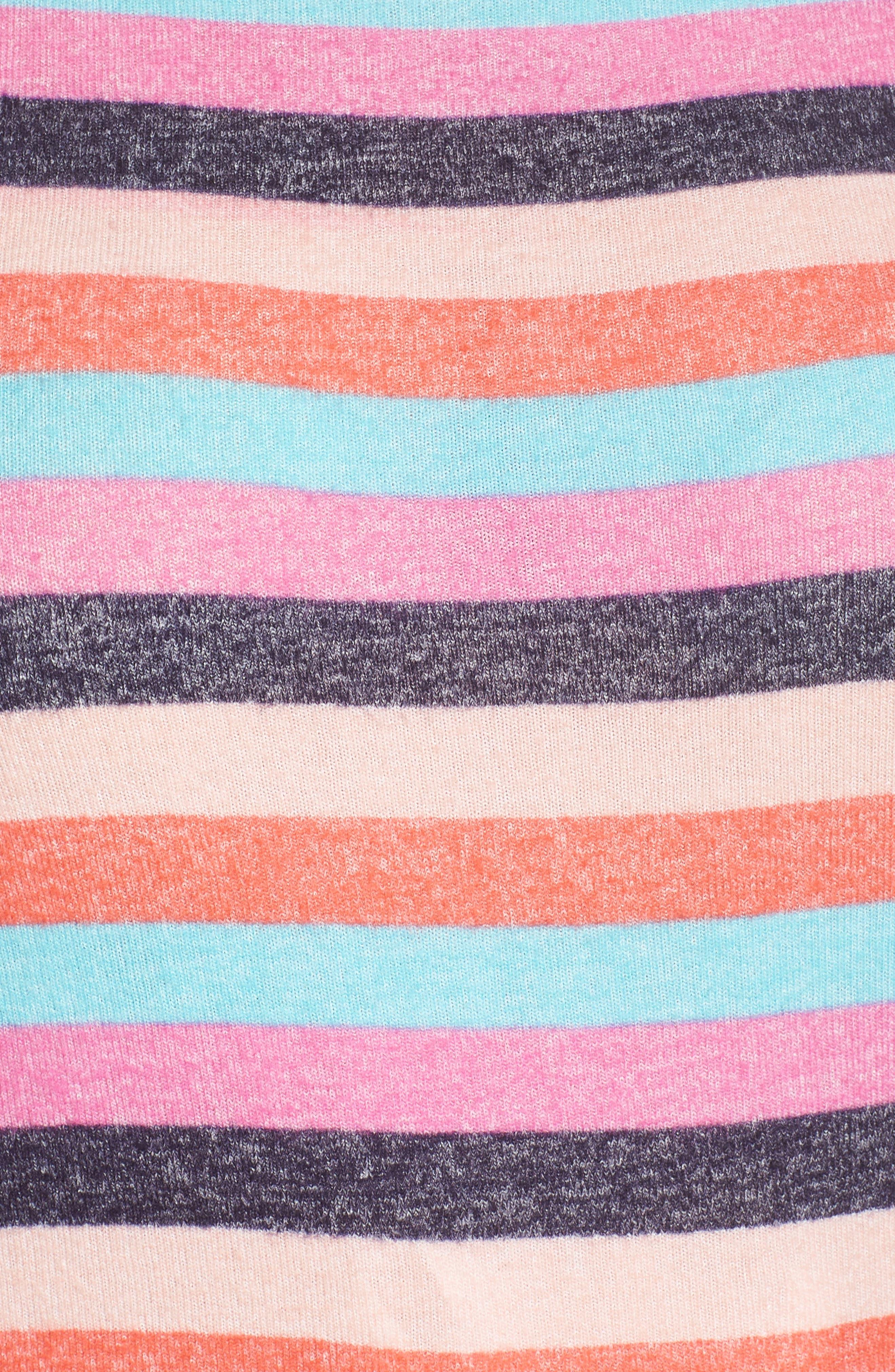 Cozy Crew Lounge Sweater,                             Alternate thumbnail 5, color,                             Navy Dusk Milli Multi Stripe