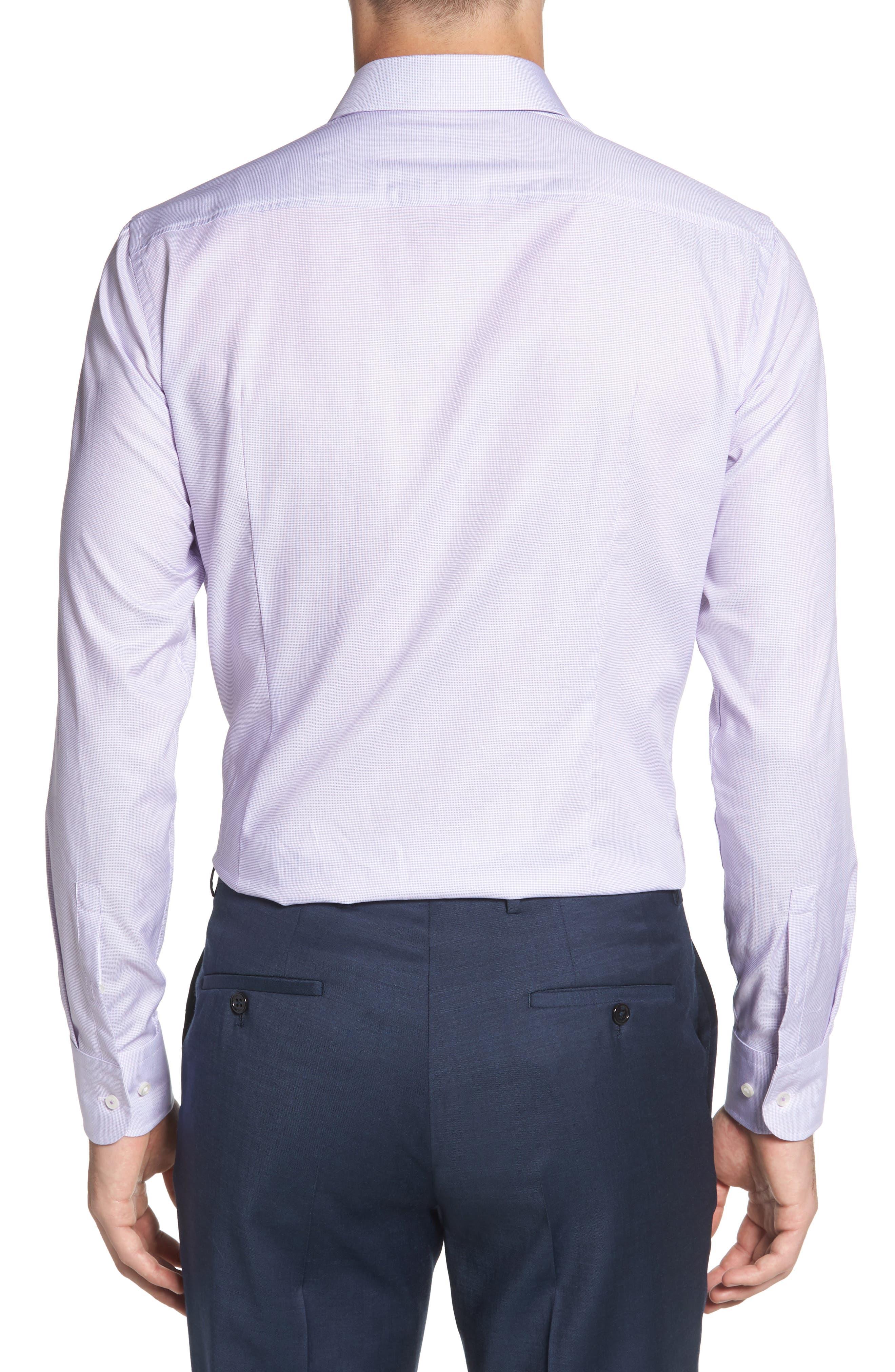 Jesse Slim Fit Dress Shirt,                             Alternate thumbnail 3, color,                             Purple