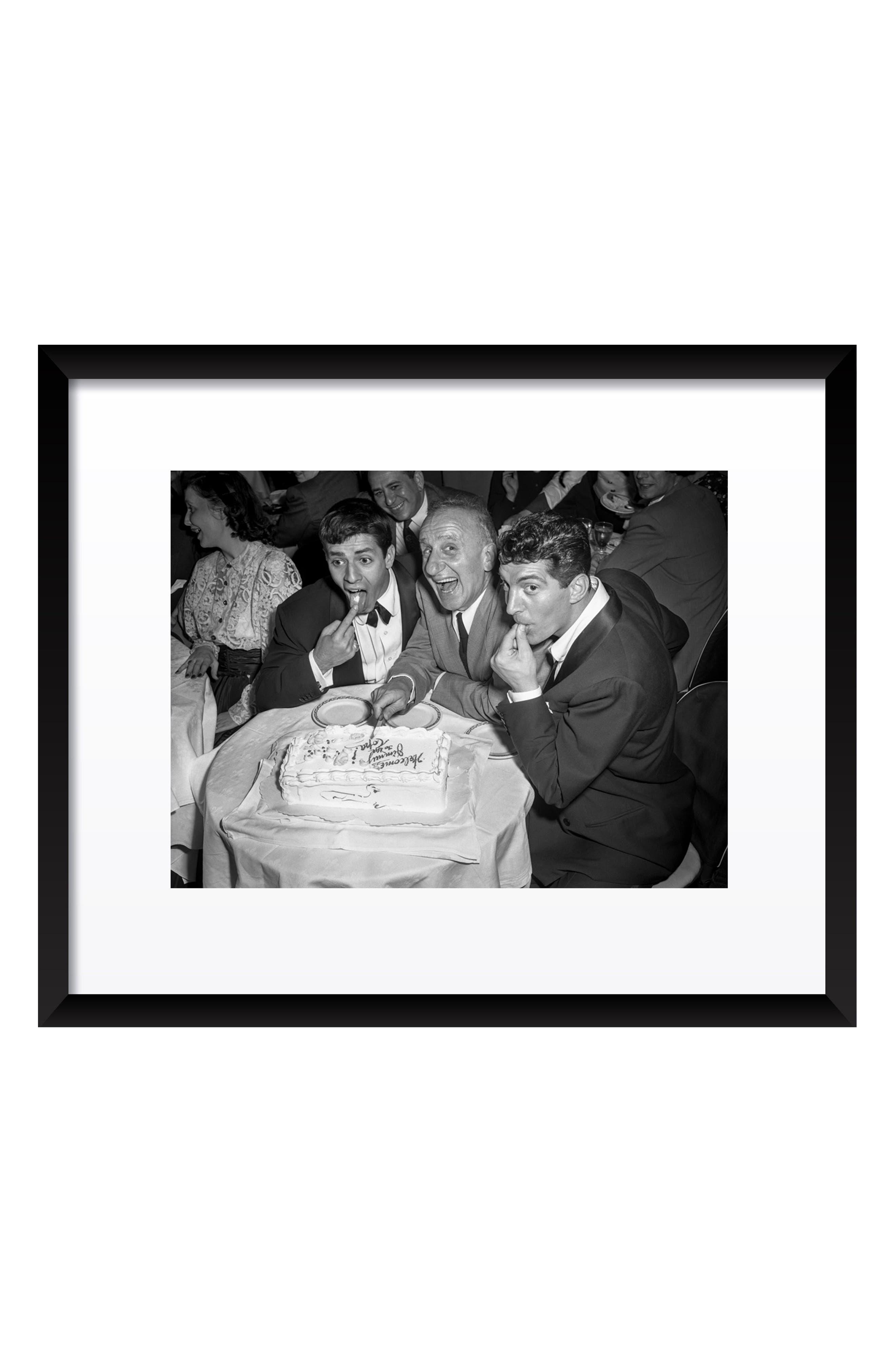 Jerry & Dean with Jimmy Durante Fine Art Print,                             Main thumbnail 1, color,                             Black