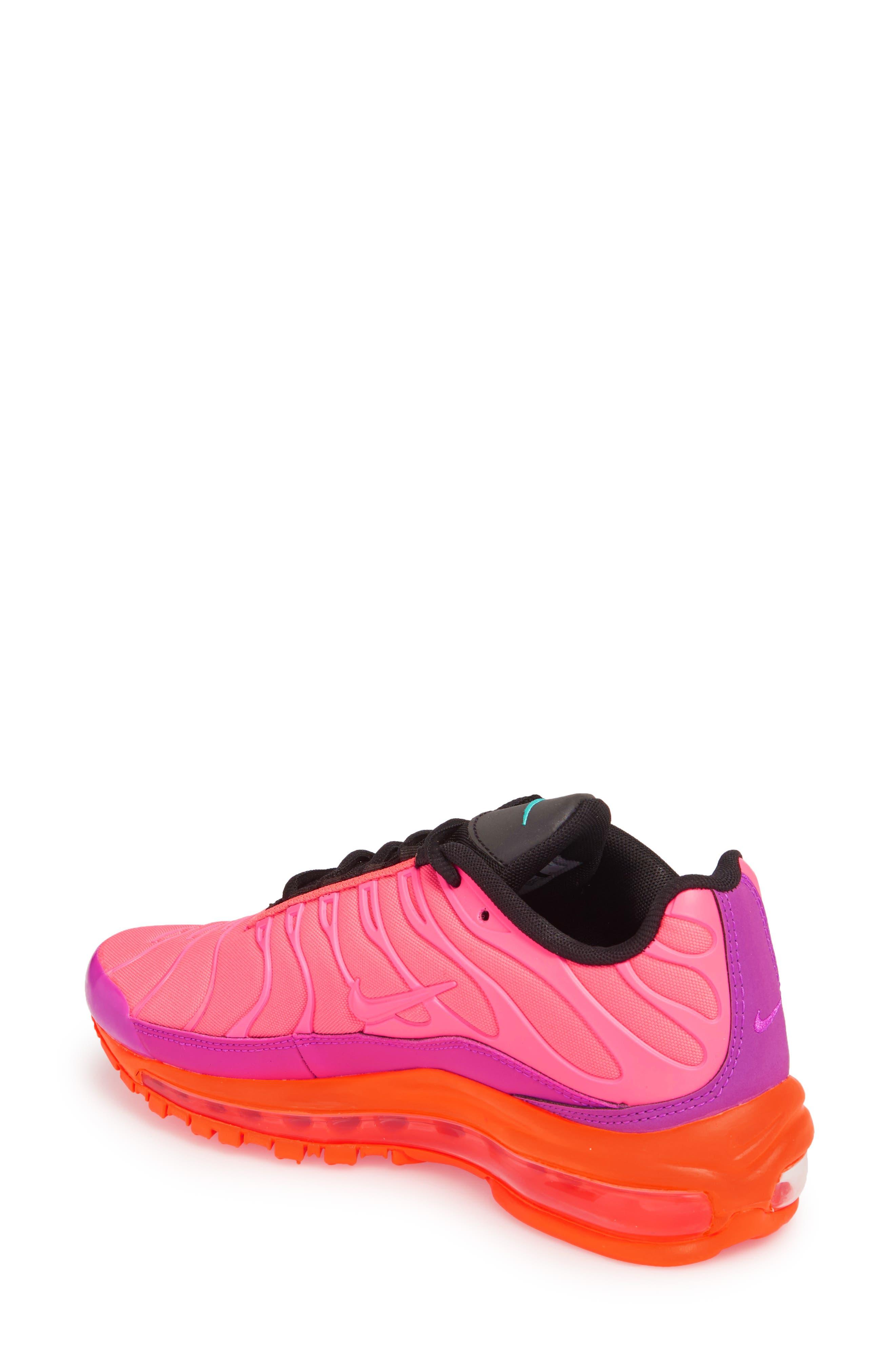 Air Max 97 Plus Sneaker,                             Alternate thumbnail 2, color,                             Racer Pink/ Magenta/ Crimson
