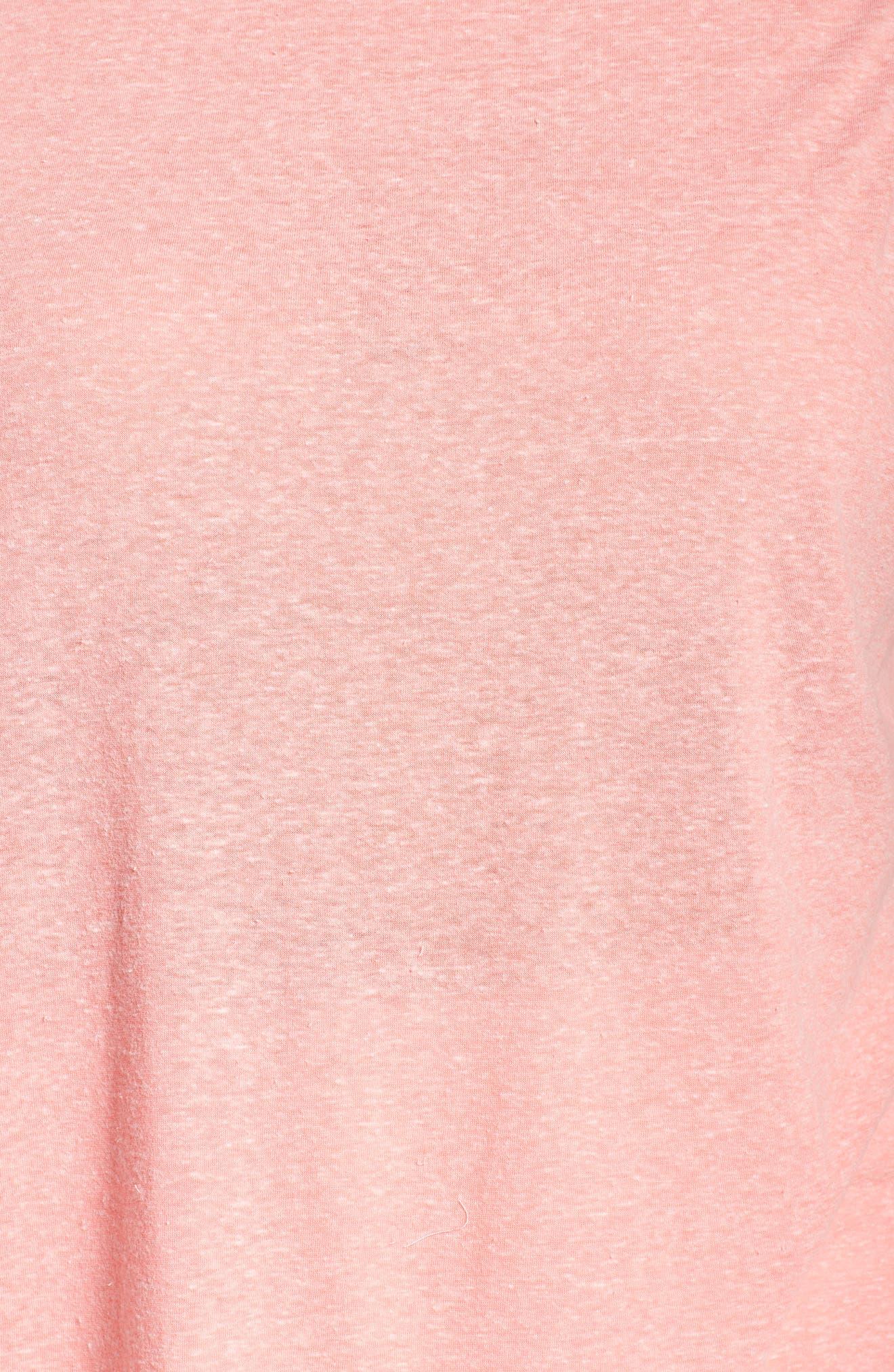 Flutter Sleeve Crochet Detail Top,                             Alternate thumbnail 7, color,                             Coral