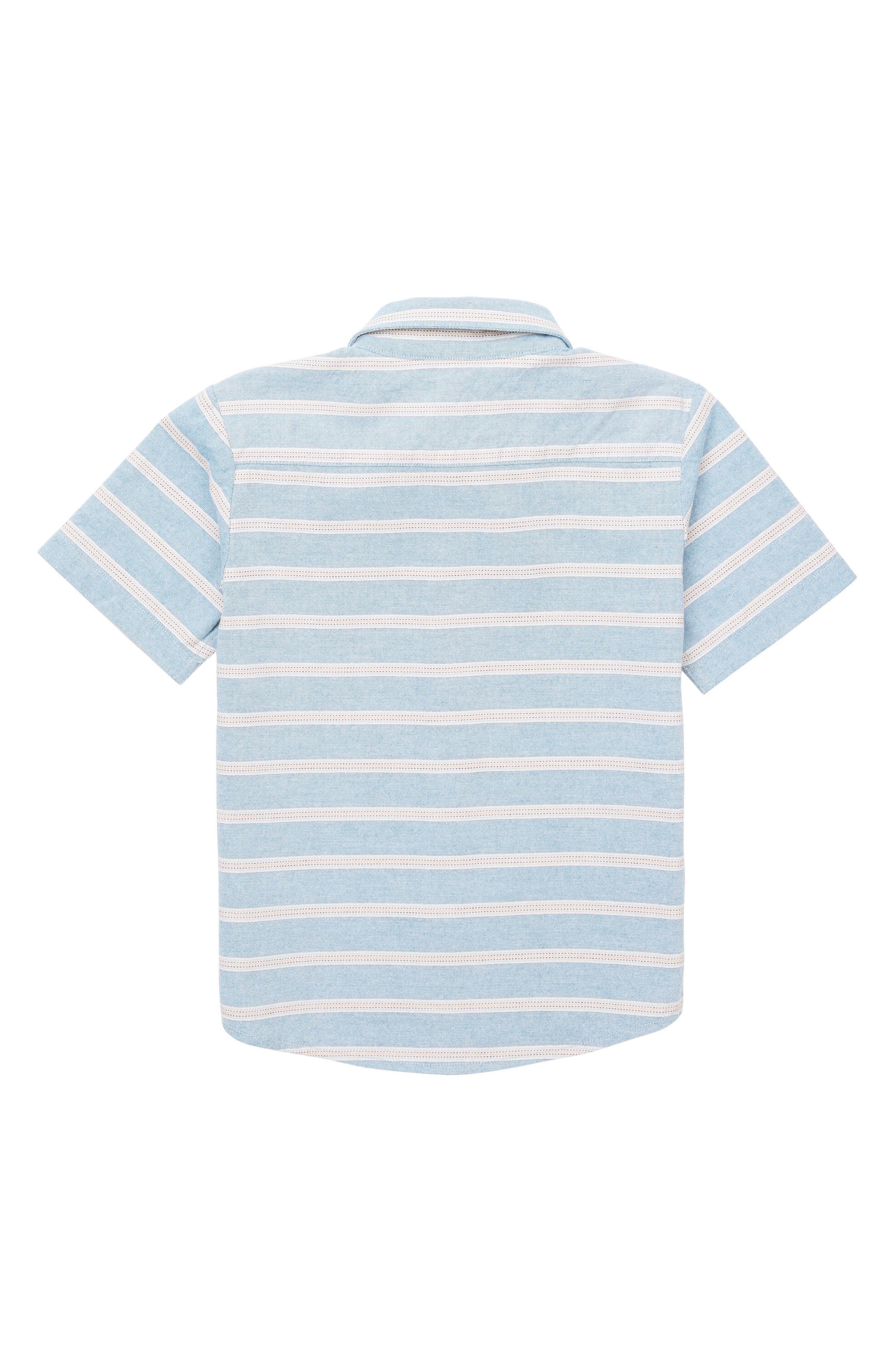 Branson Stripe Woven Shirt,                             Alternate thumbnail 2, color,                             Vintage Blue
