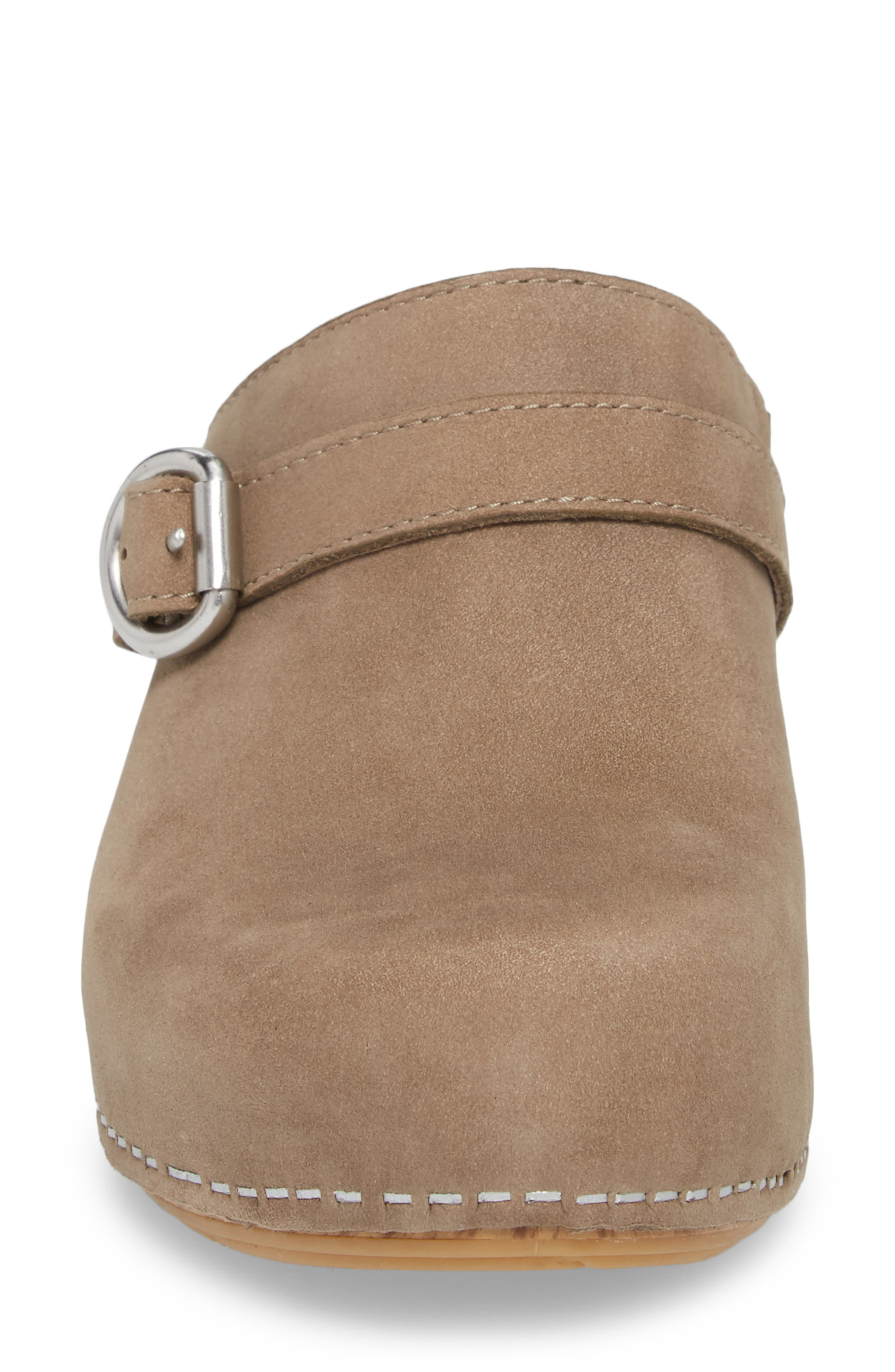 Marty Clog,                             Alternate thumbnail 4, color,                             Taupe Milled Nubuck Leather