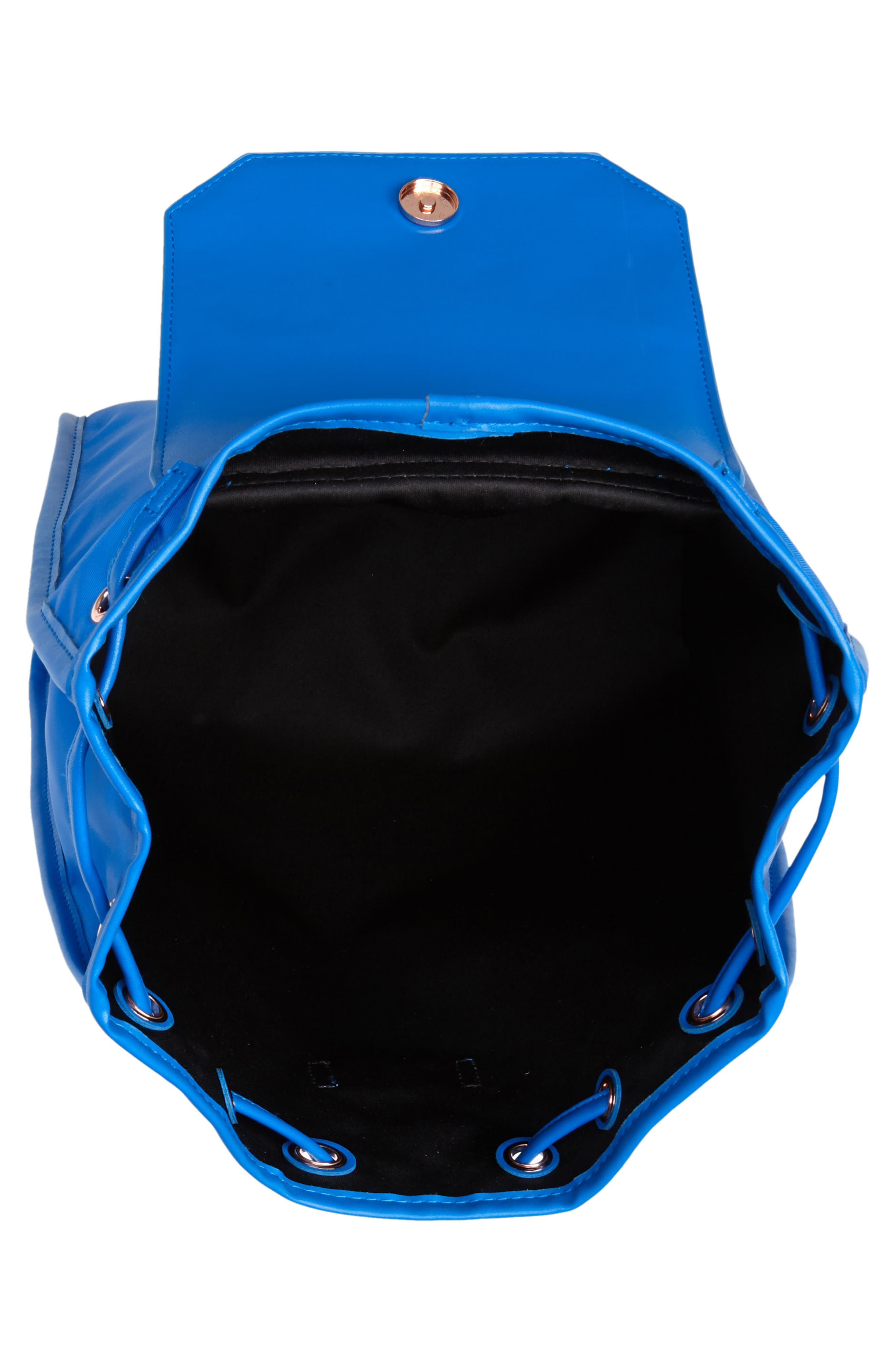 Baileee Harmony Print Backpack,                             Alternate thumbnail 4, color,                             Bright Blue