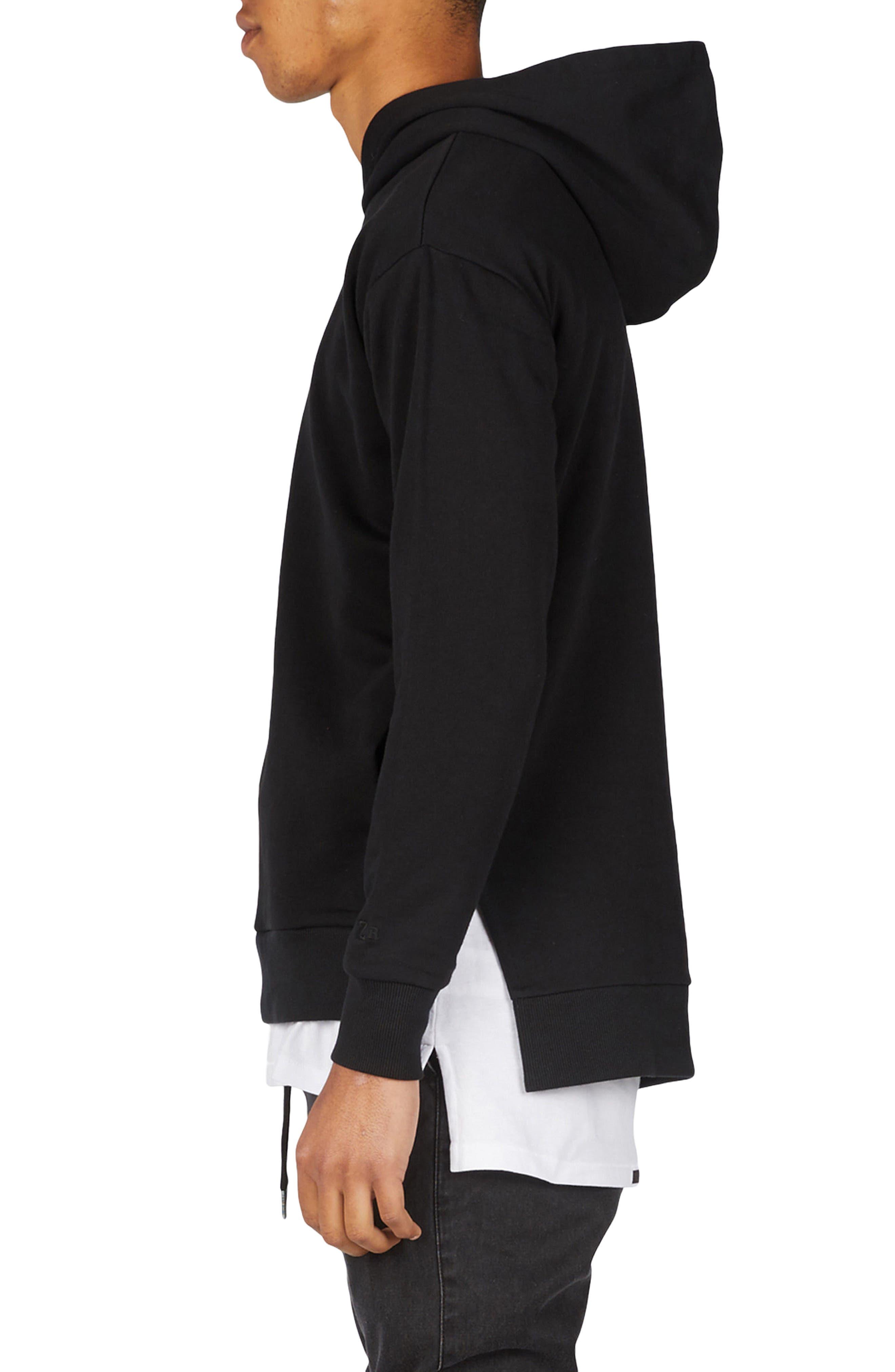 Season Rugger Hooded Sweatshirt,                             Alternate thumbnail 3, color,                             Black