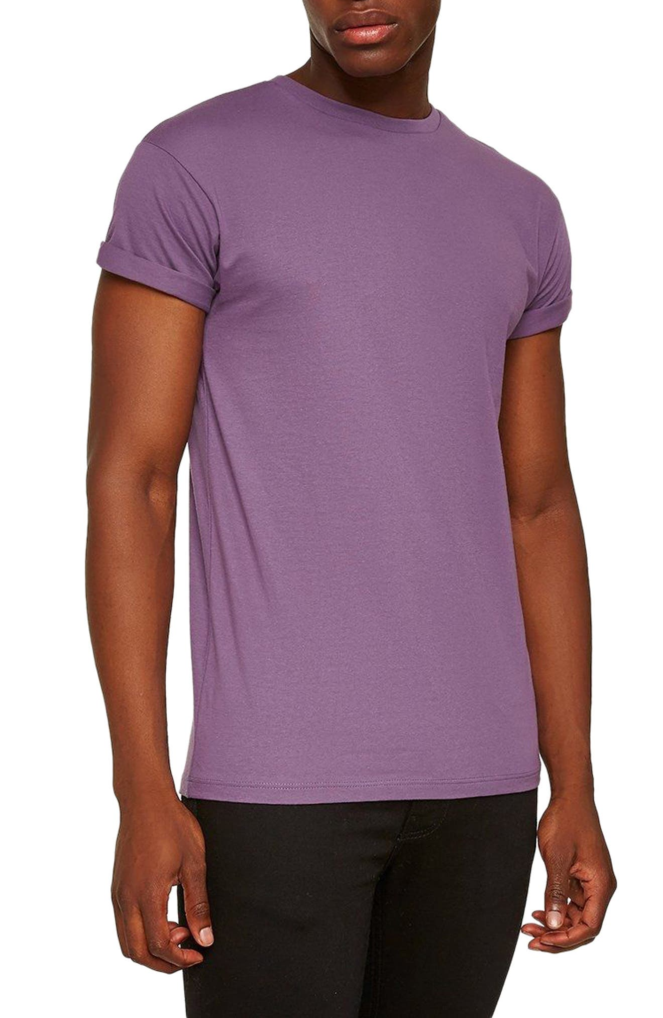 Muscle Fit Roller T-Shirt,                         Main,                         color, Medium Purple