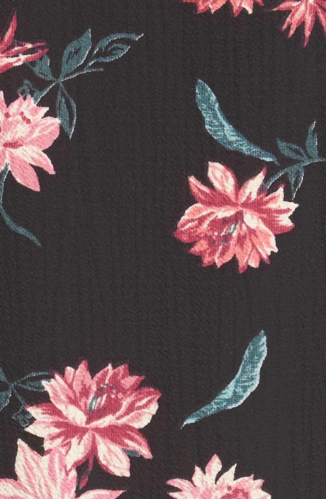 x Hi Sugarplum! Captiva Romper,                             Alternate thumbnail 7, color,                             Black Floral
