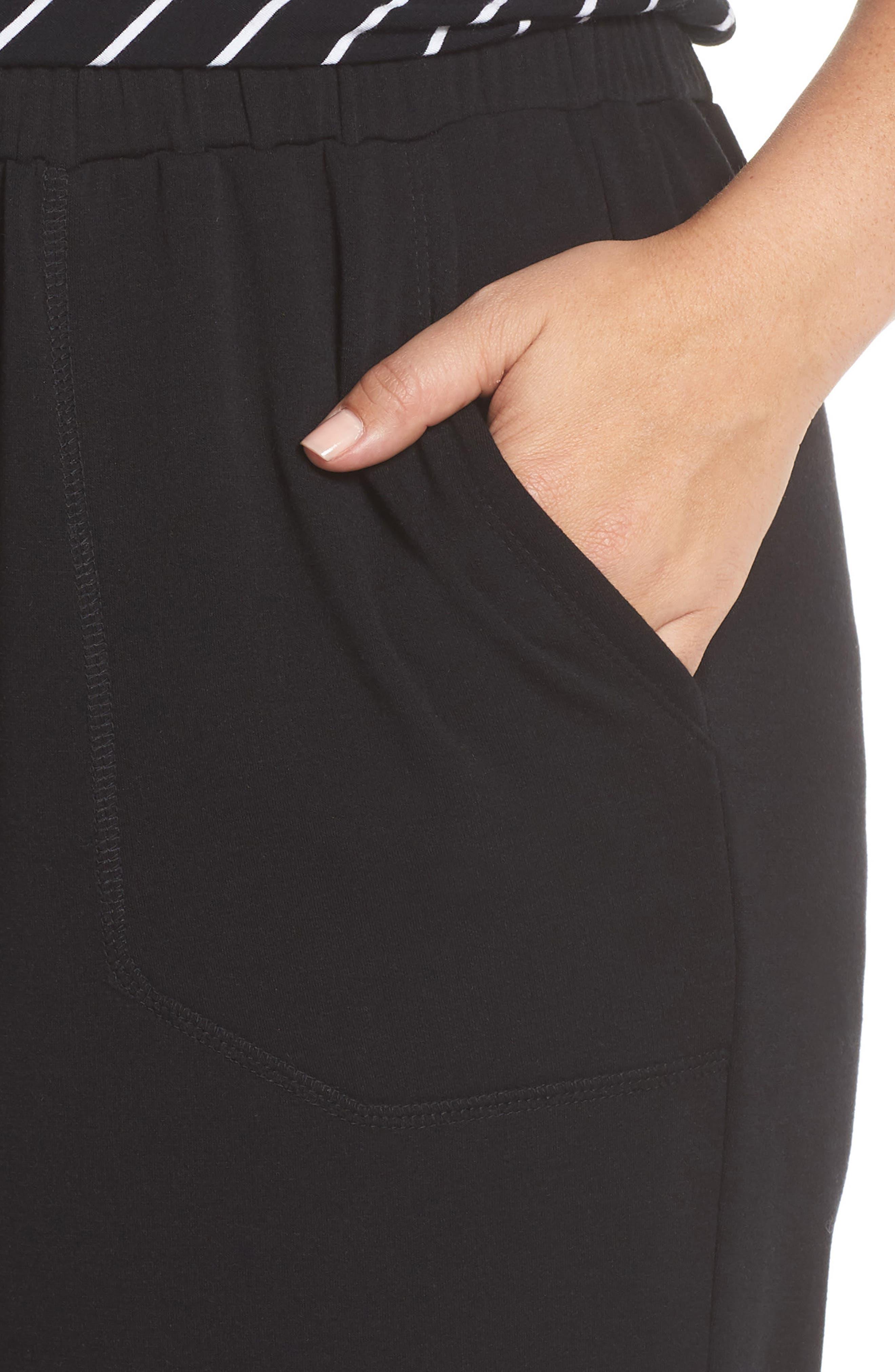 Off Duty Easy Drawstring Pants,                             Alternate thumbnail 4, color,                             Black