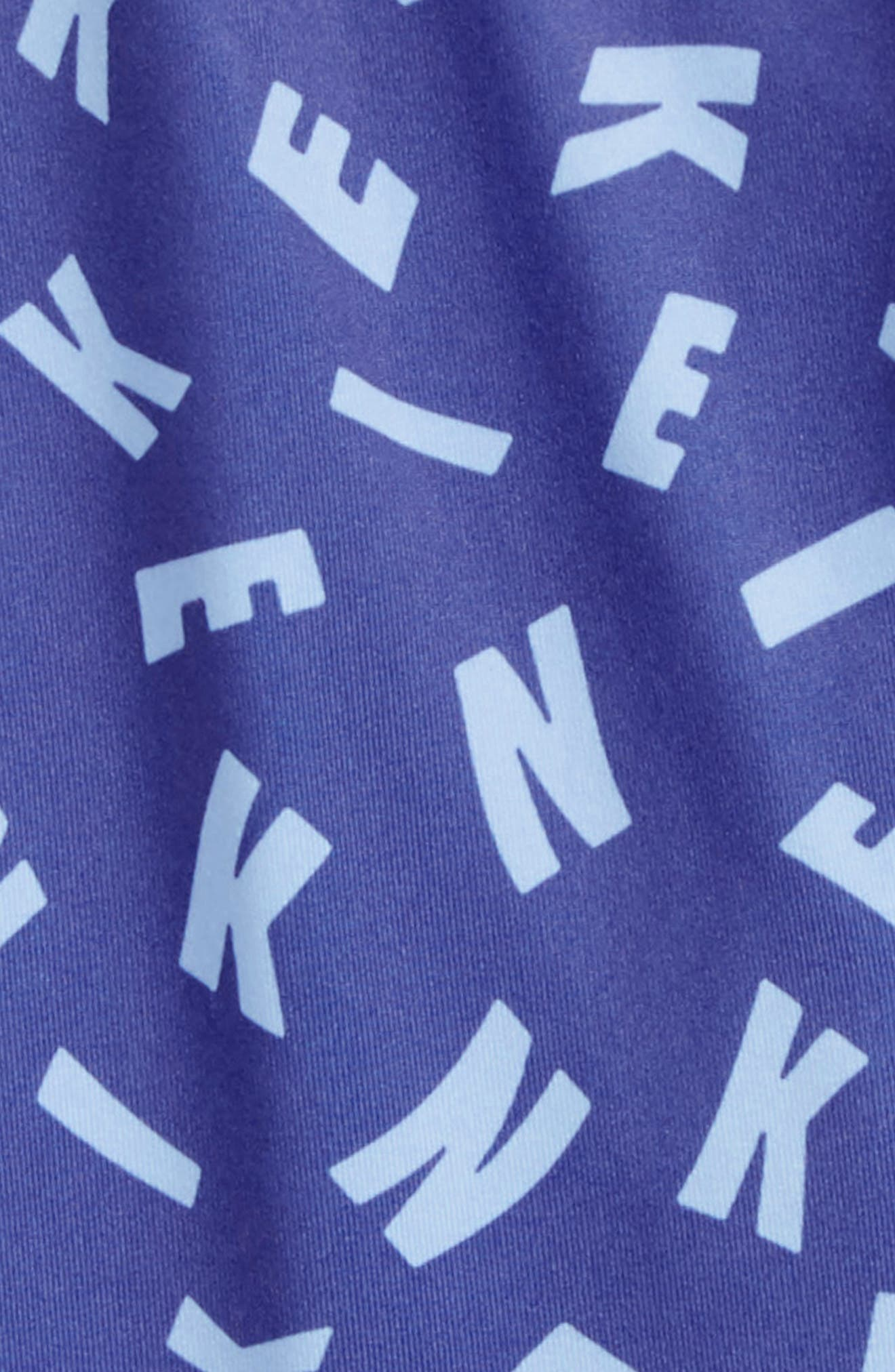 Essentials Print Capri Legging,                             Alternate thumbnail 2, color,                             Purple Slate
