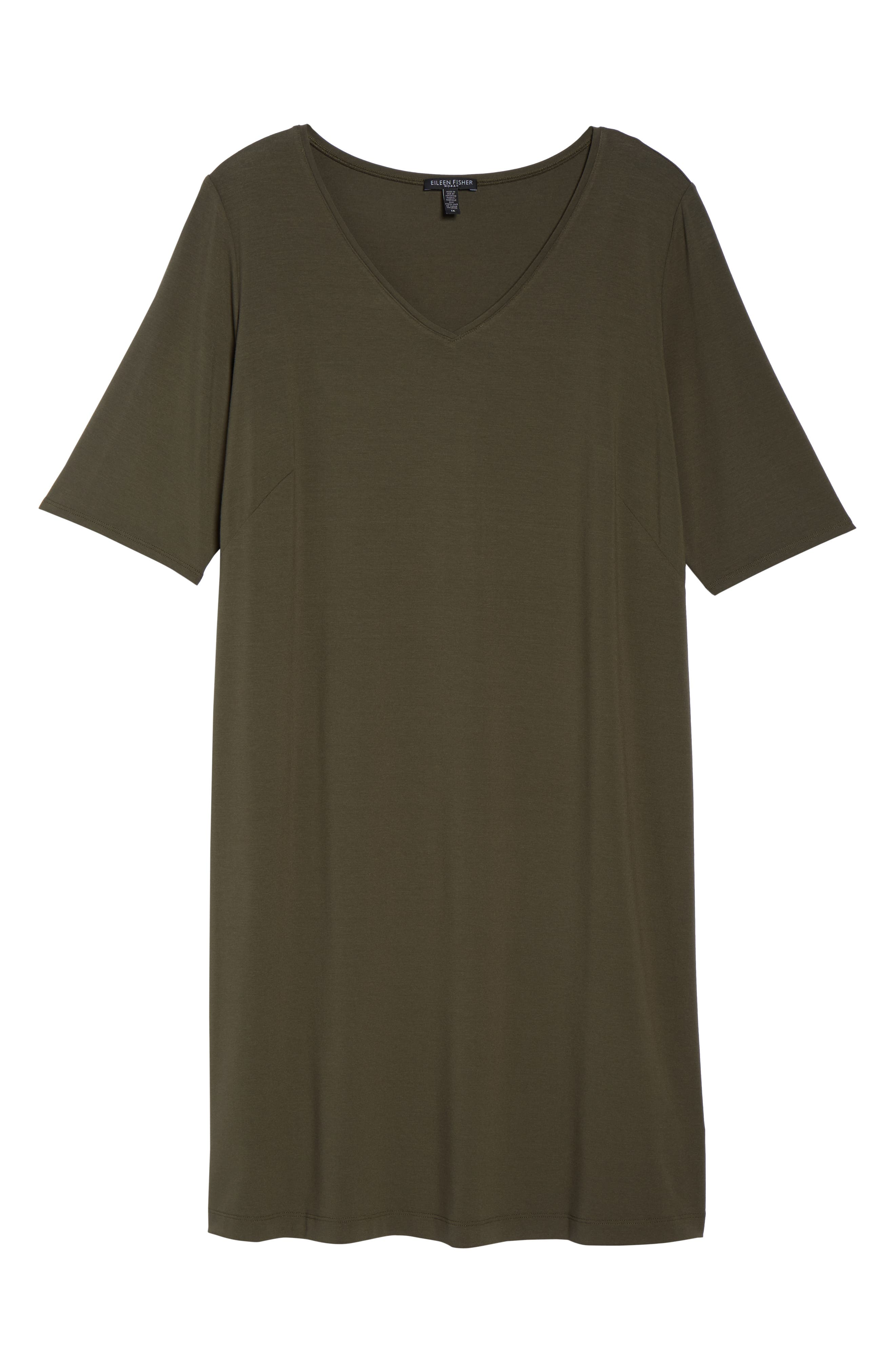 V-Neck Stretch Jersey Shift Dress,                             Alternate thumbnail 7, color,                             Orega
