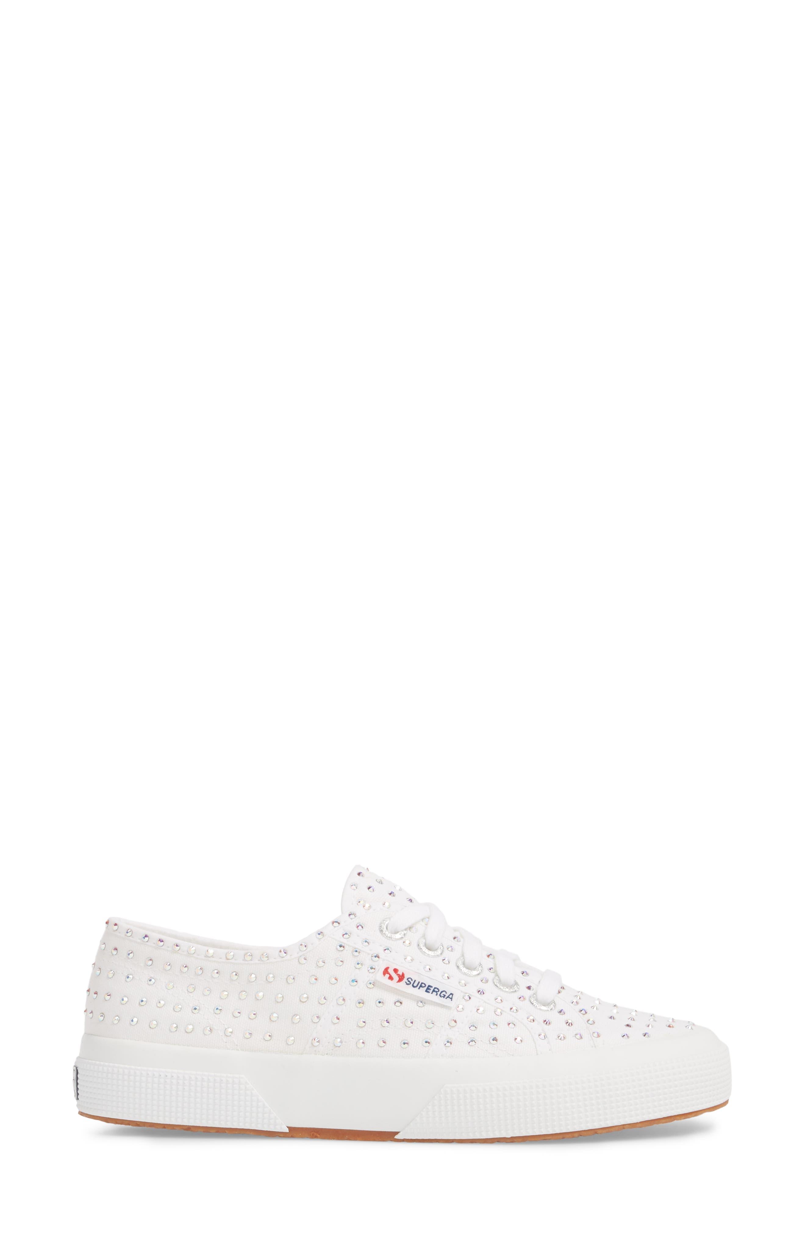 2750 Crystal Sneaker,                             Alternate thumbnail 3, color,                             White Multi