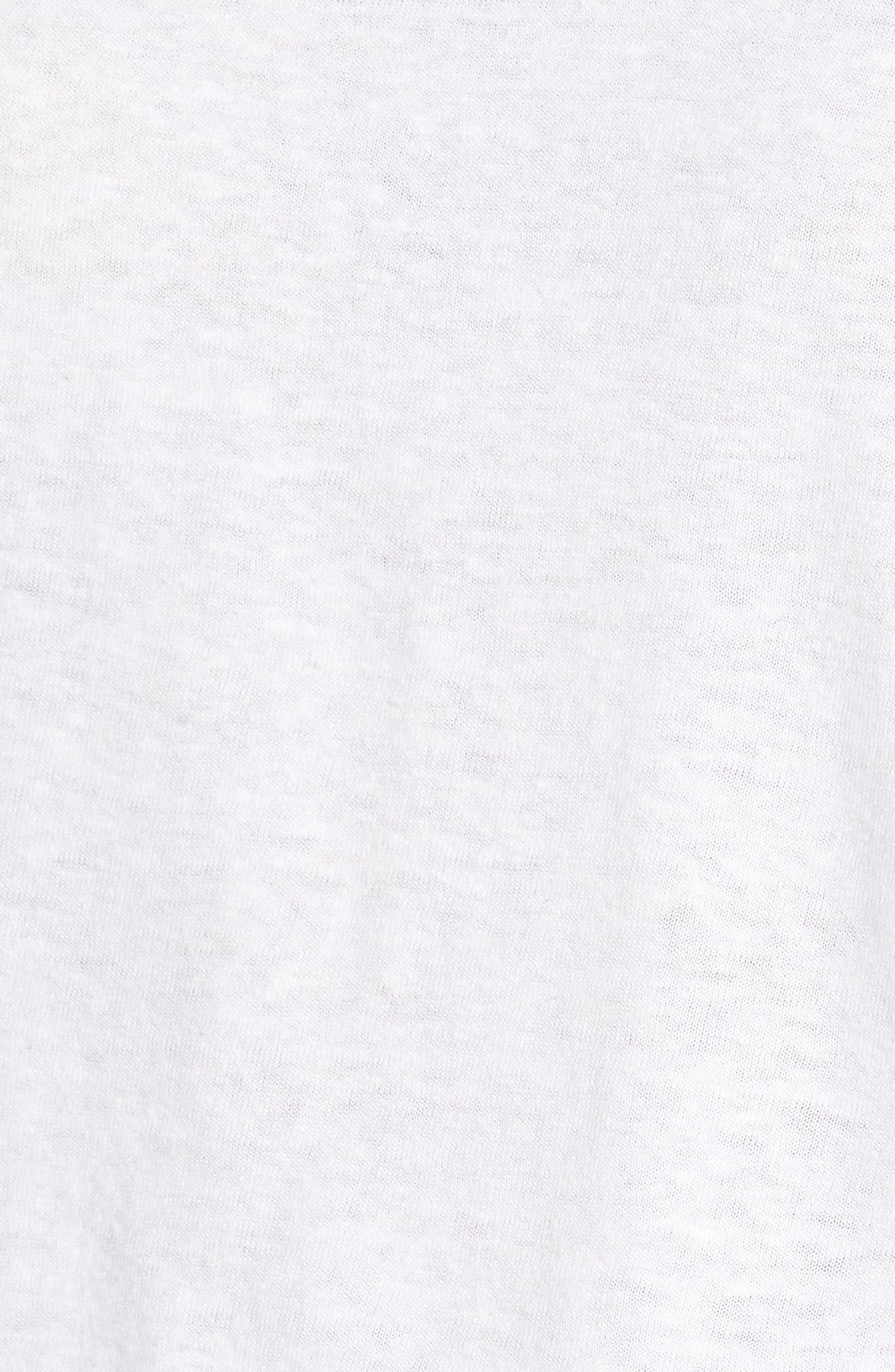 Ringer Tee,                             Alternate thumbnail 5, color,                             White Navy Night Combo