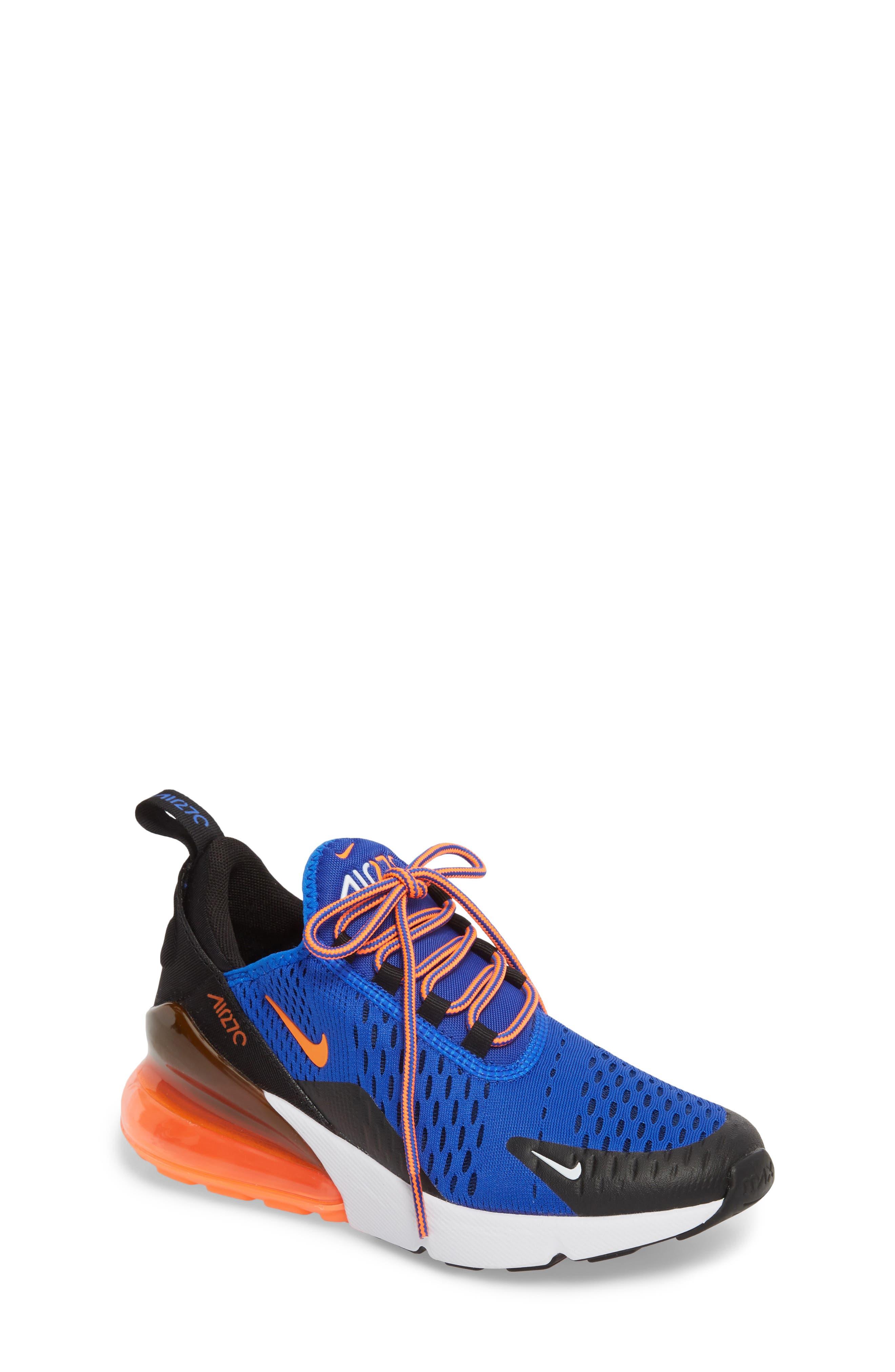 Air Max 270 Sneaker,                             Main thumbnail 1, color,                             Racer Blue/ Crimson/ Black