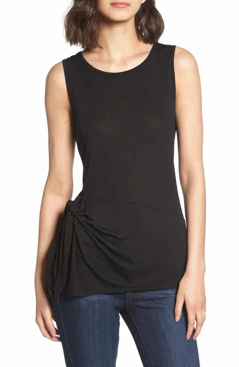 Trouv? Side Tie Knit Top
