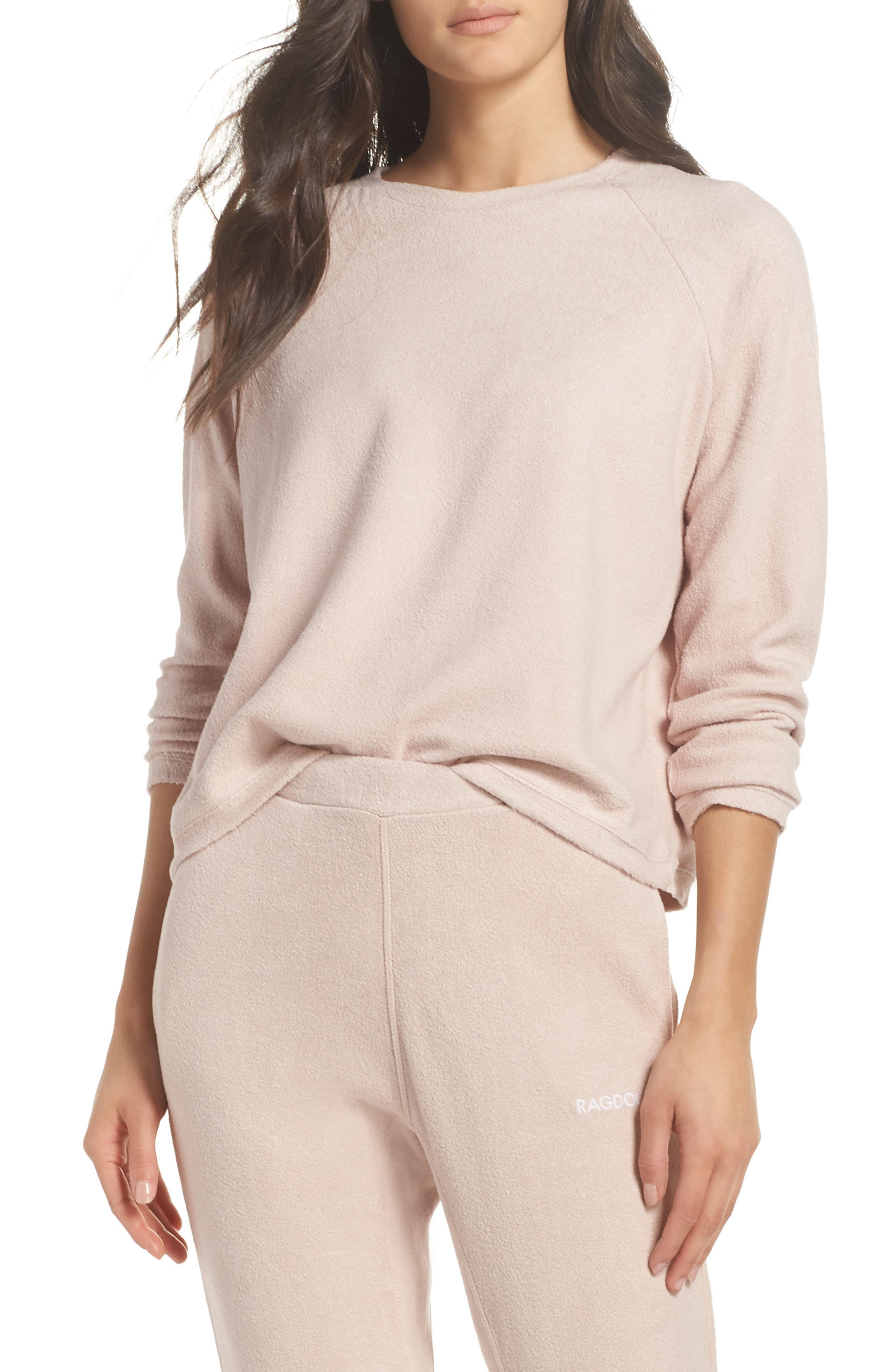 Slouchy Sweatshirt,                         Main,                         color, Dusty Pink