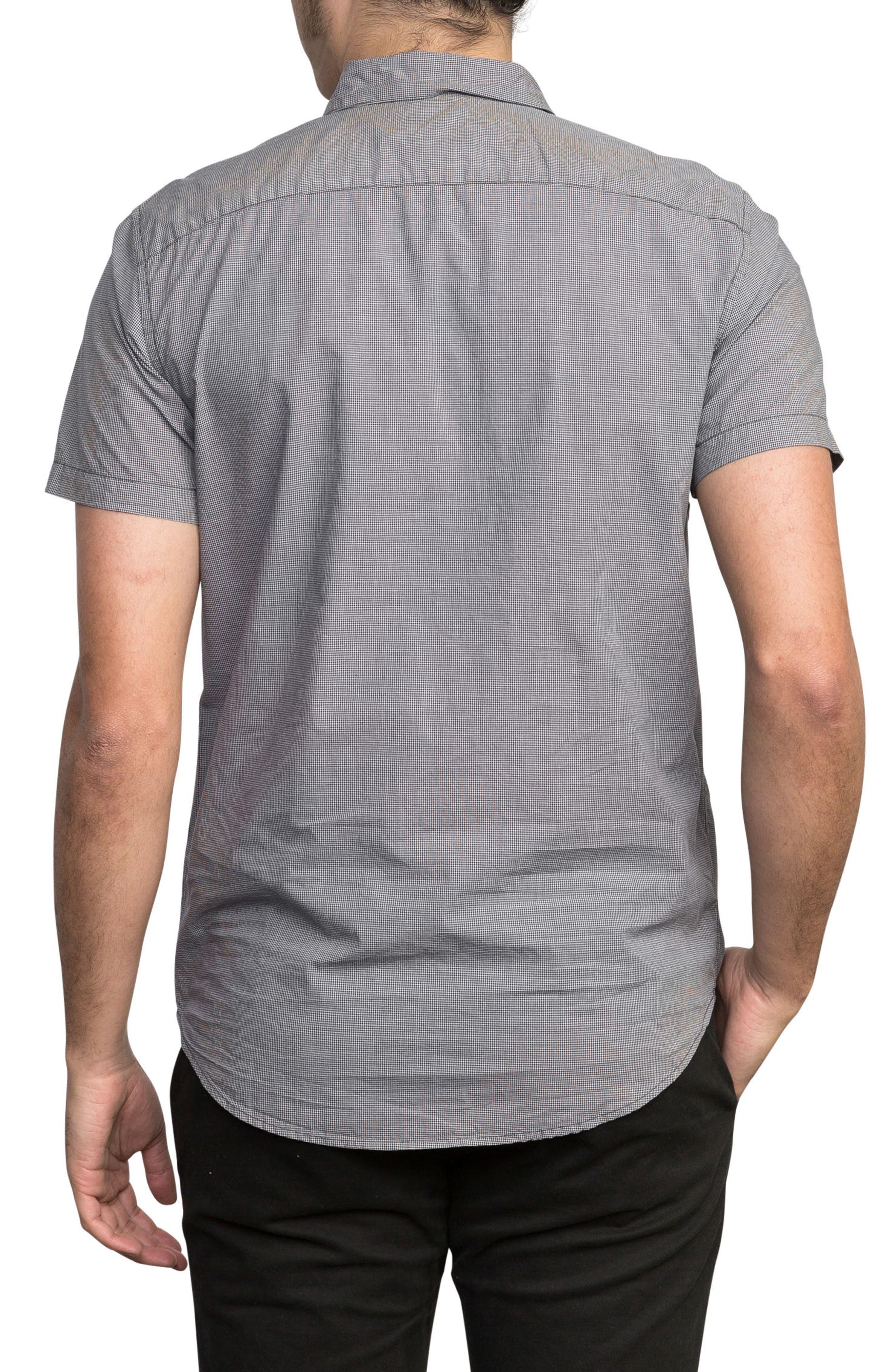 'That'll Do' Slim Fit Microdot Woven Shirt,                             Alternate thumbnail 2, color,                             Slate