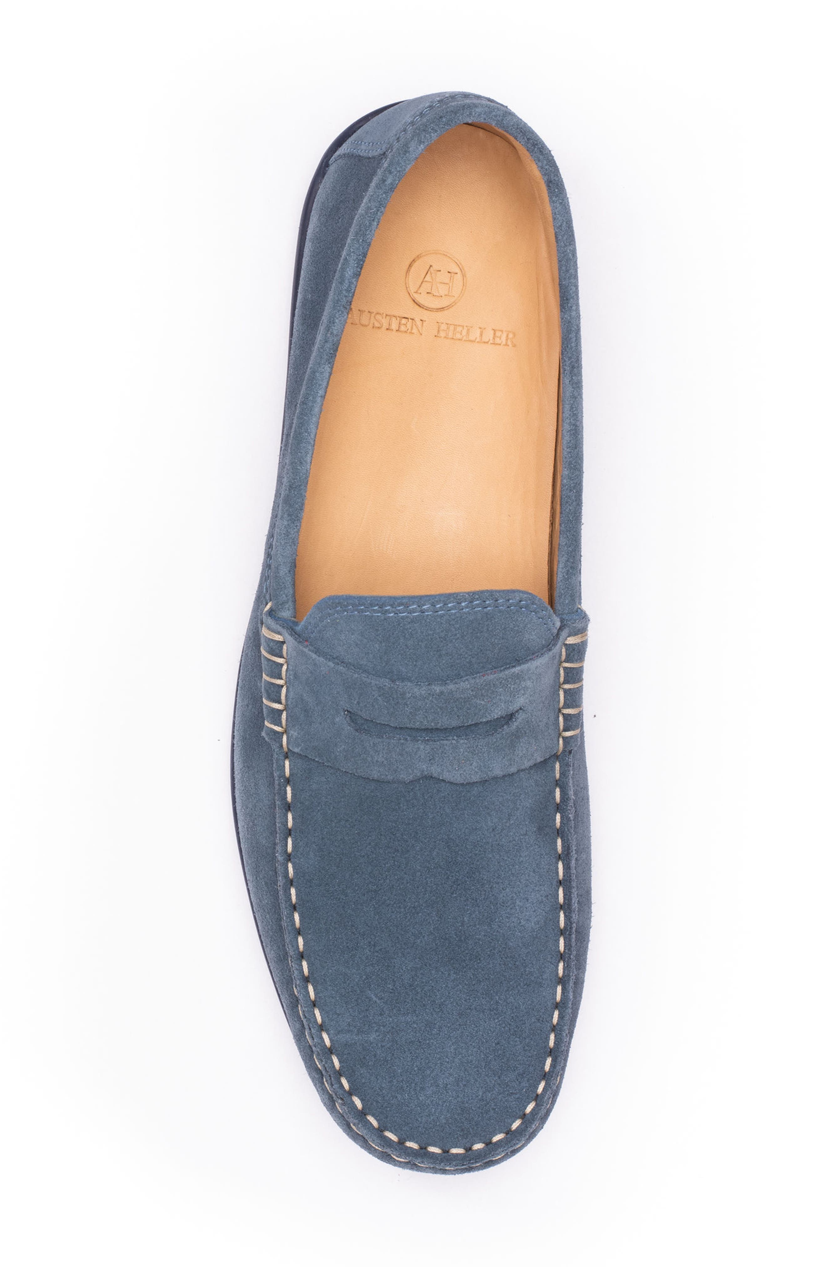 'Parkers' Penny Loafer,                             Alternate thumbnail 5, color,                             Indigo