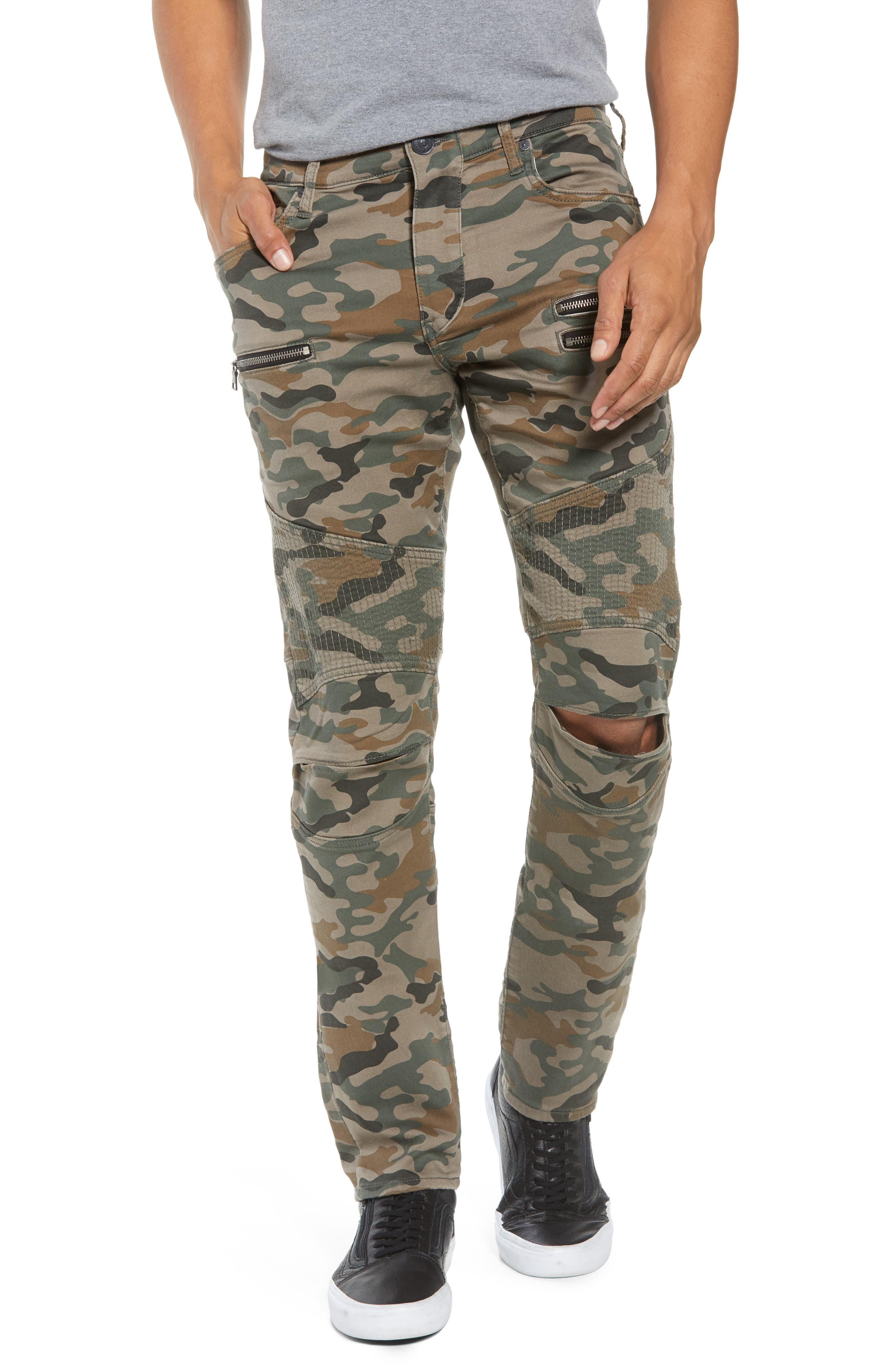 Drift Straight Leg Camo Pants,                         Main,                         color, Camo Print