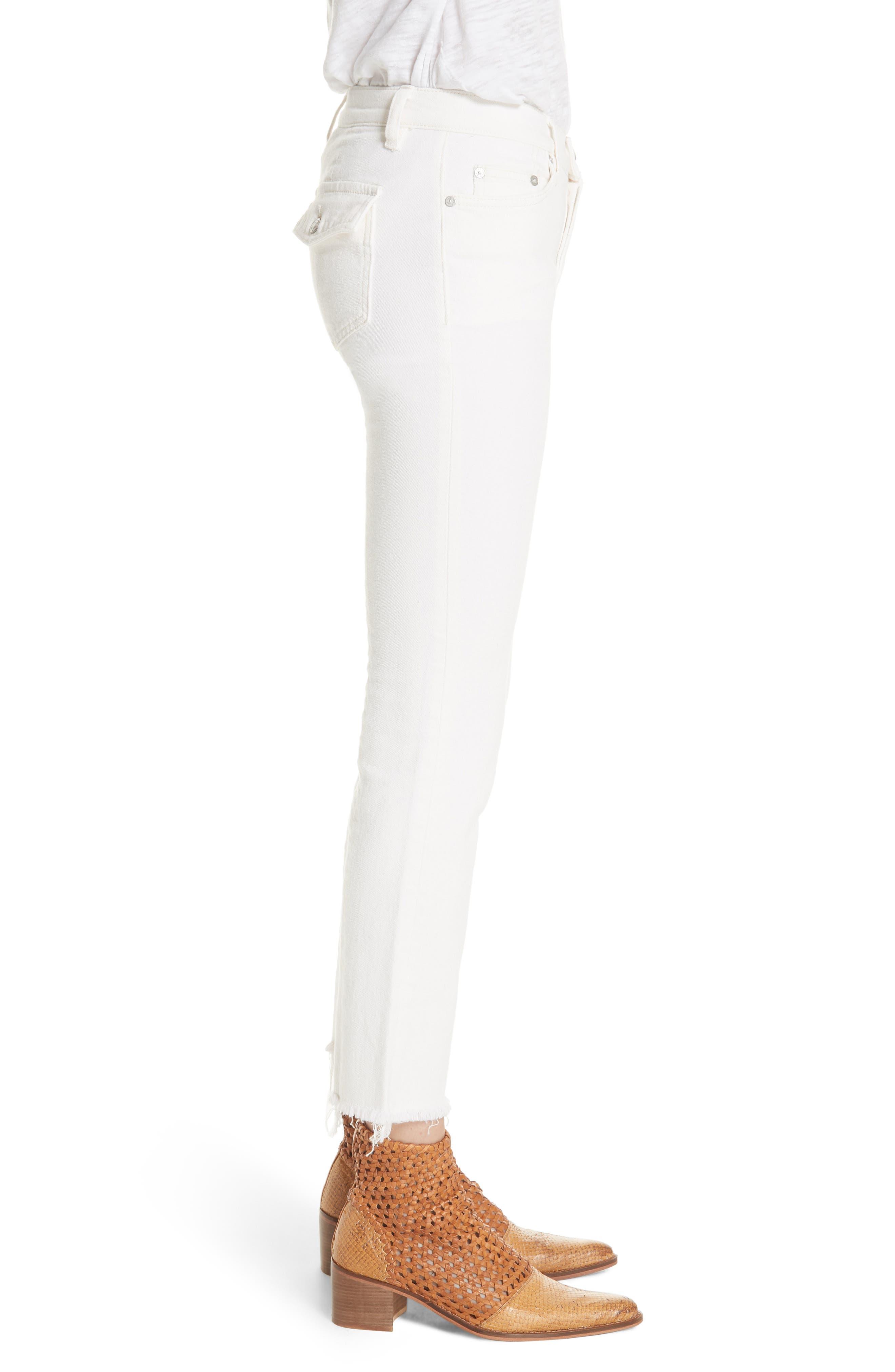 Austen Straight Leg Jeans,                             Alternate thumbnail 3, color,                             White