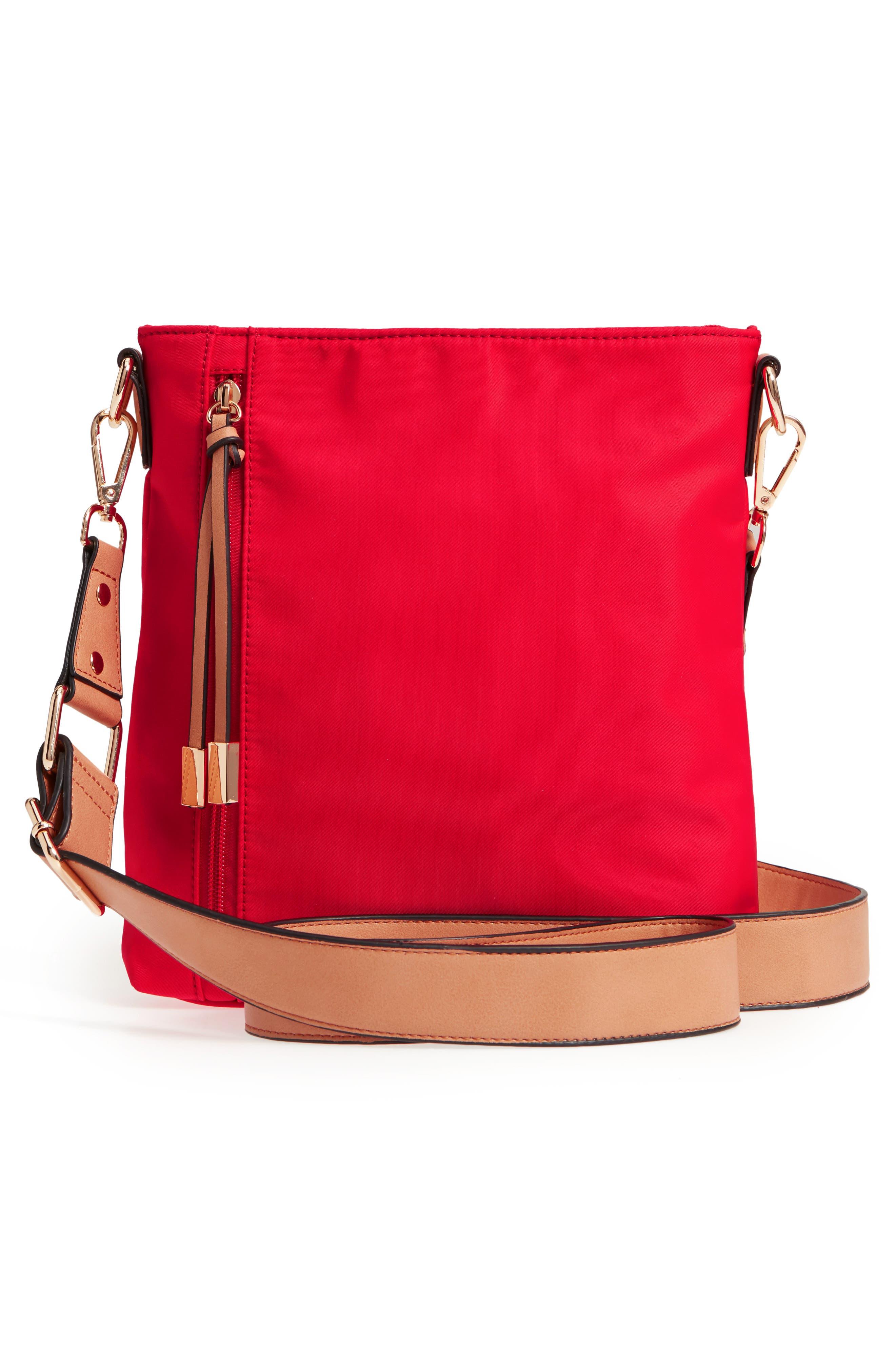 Guitar Strap Crossbody Bag,                             Alternate thumbnail 3, color,                             Red