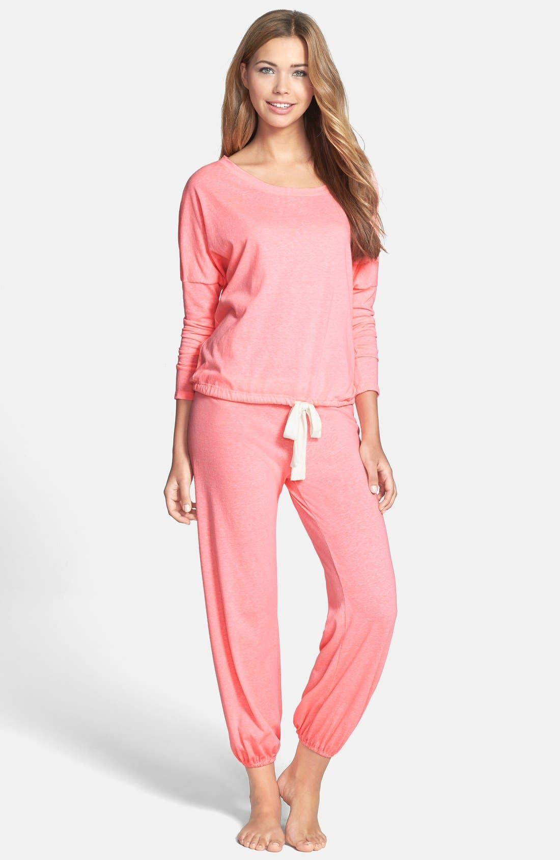 Alternate Image 2  - Eberjey Crop Knit Lounge Pants