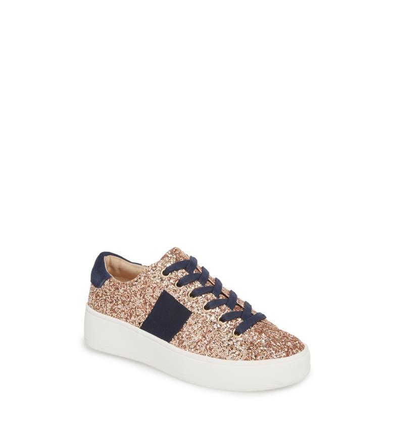 2e9b67fb284 Steve Madden Belle-G Glitter Platform Sneaker In Blush Glitter ...