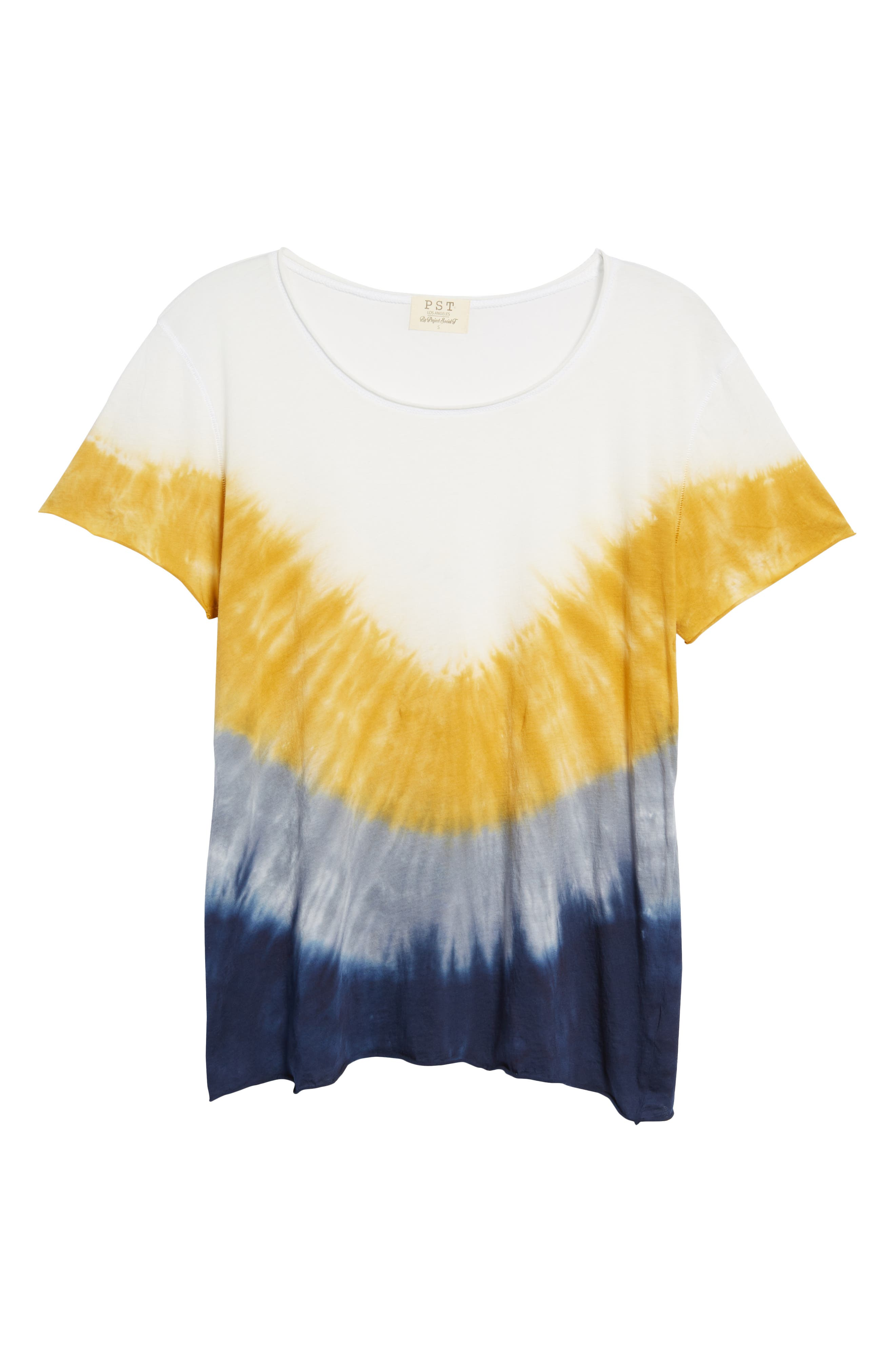 Tie Dye Tee,                             Alternate thumbnail 7, color,                             Ivory/ Yellow/ Blue A/ S