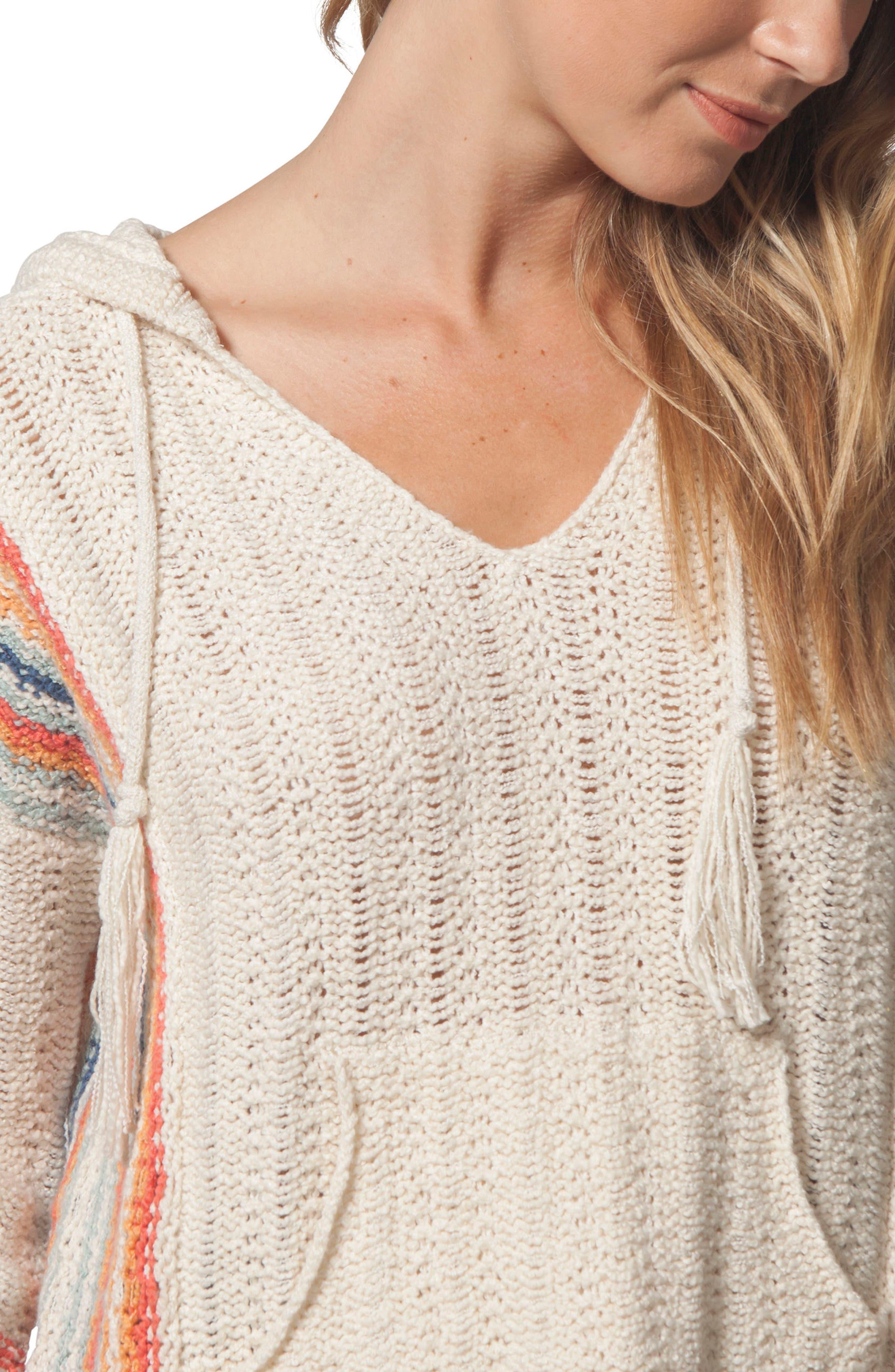 Sedona Hooded Knit Pullover,                             Alternate thumbnail 3, color,                             Multico
