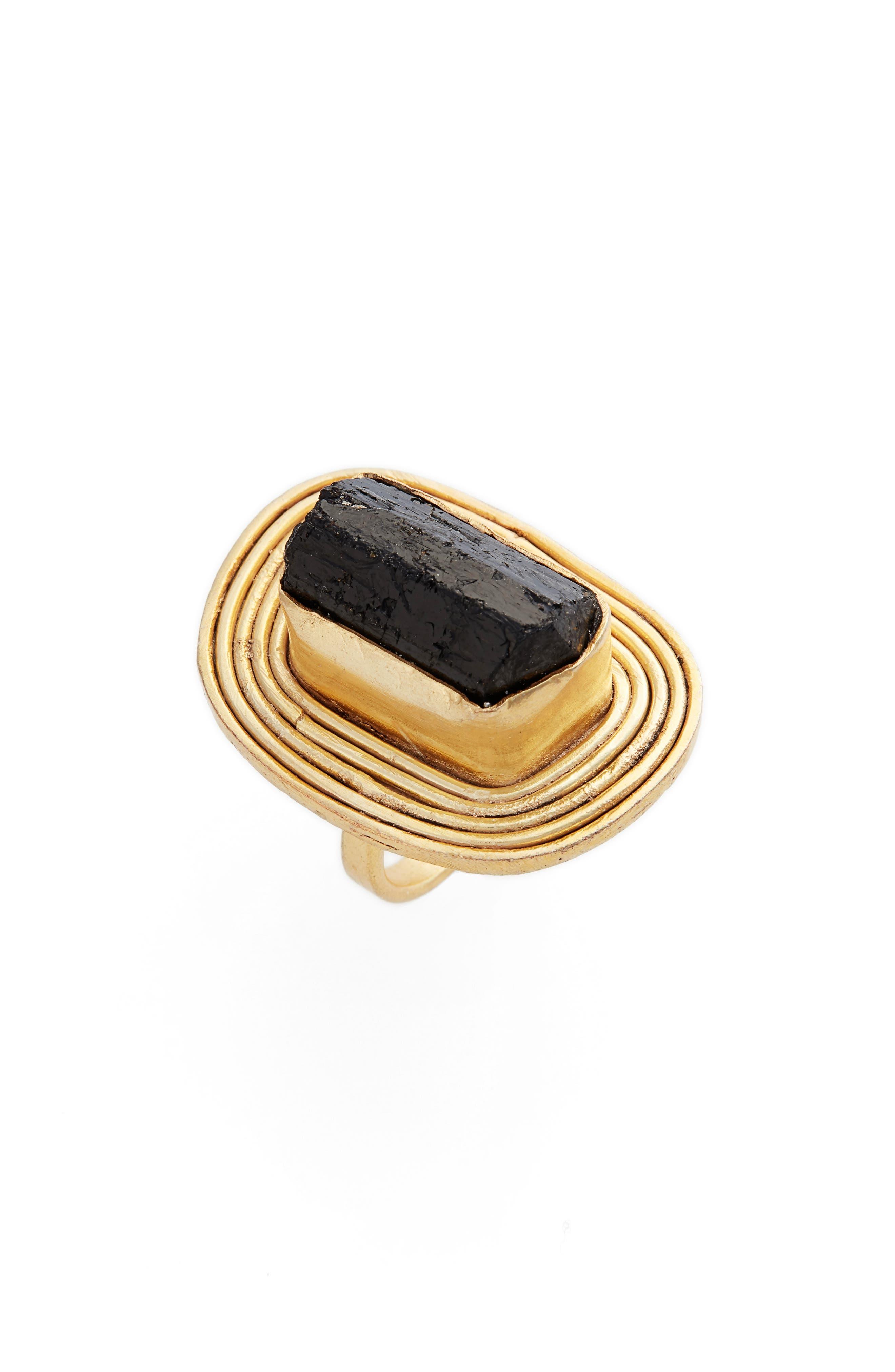 Linia Tourmaline Ring,                             Main thumbnail 1, color,                             Gold