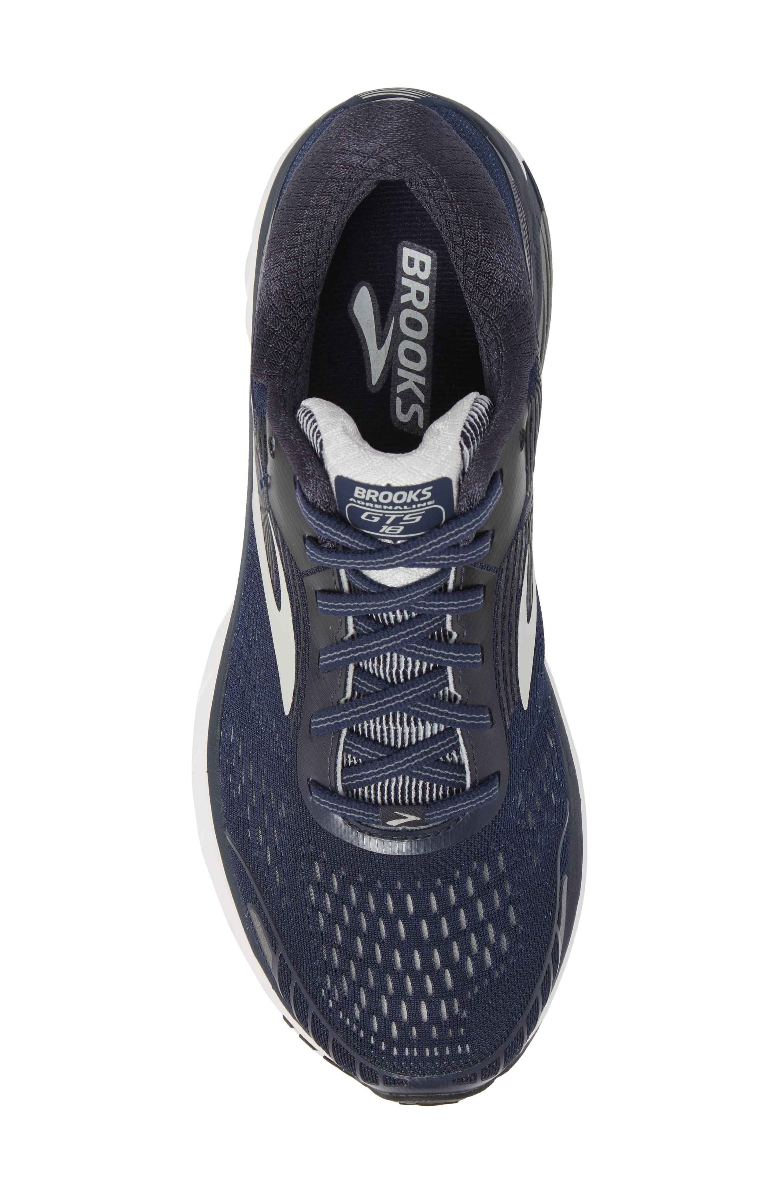 Adrenaline GTS 18 Running Shoe,                             Alternate thumbnail 5, color,                             Navy/ Grey/ Black