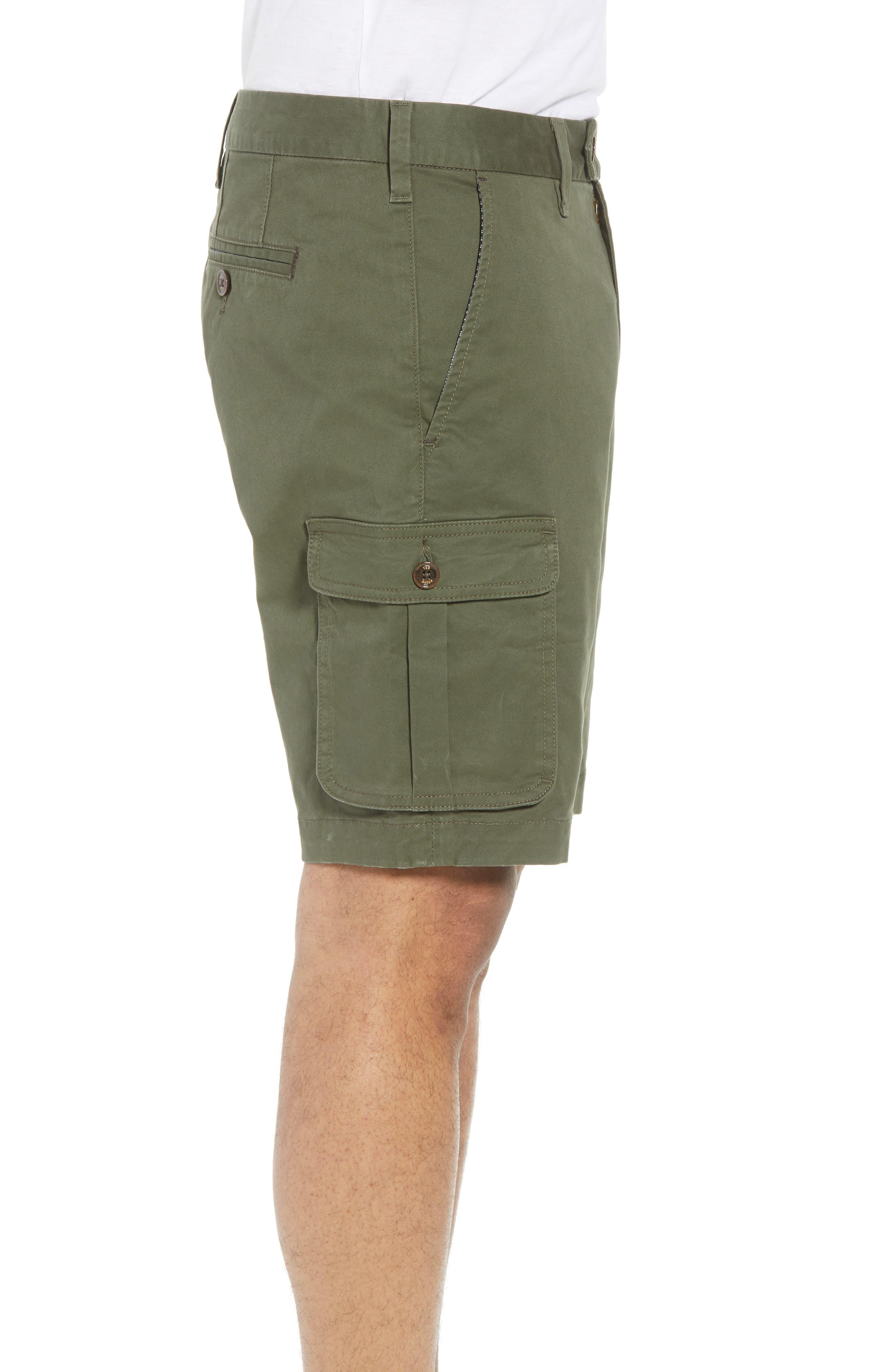 Ted Baker Cargogo Slim Fit Shorts,                             Alternate thumbnail 3, color,                             Khaki