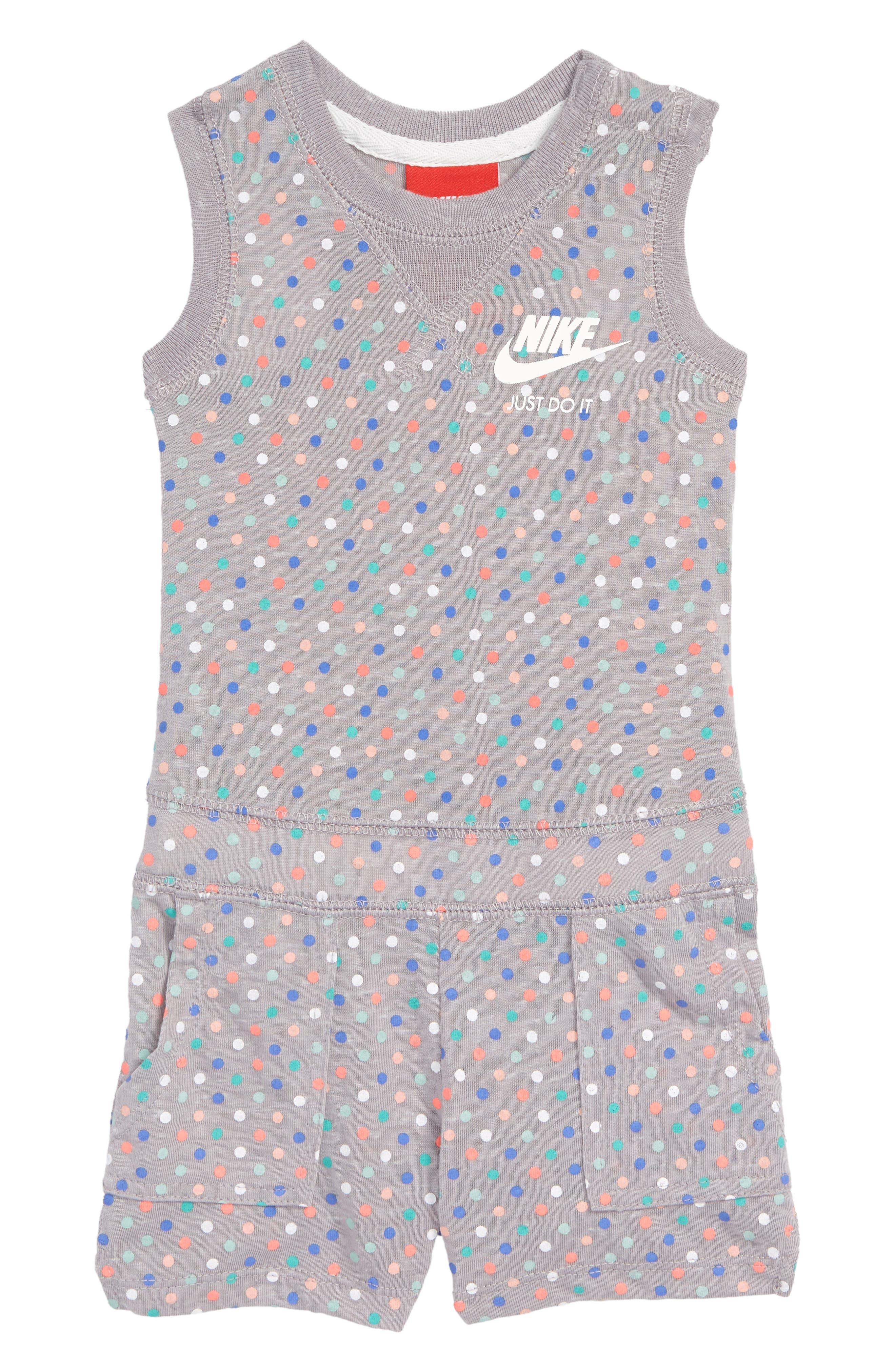Nike Vintage Gym Romper (Baby Girls)