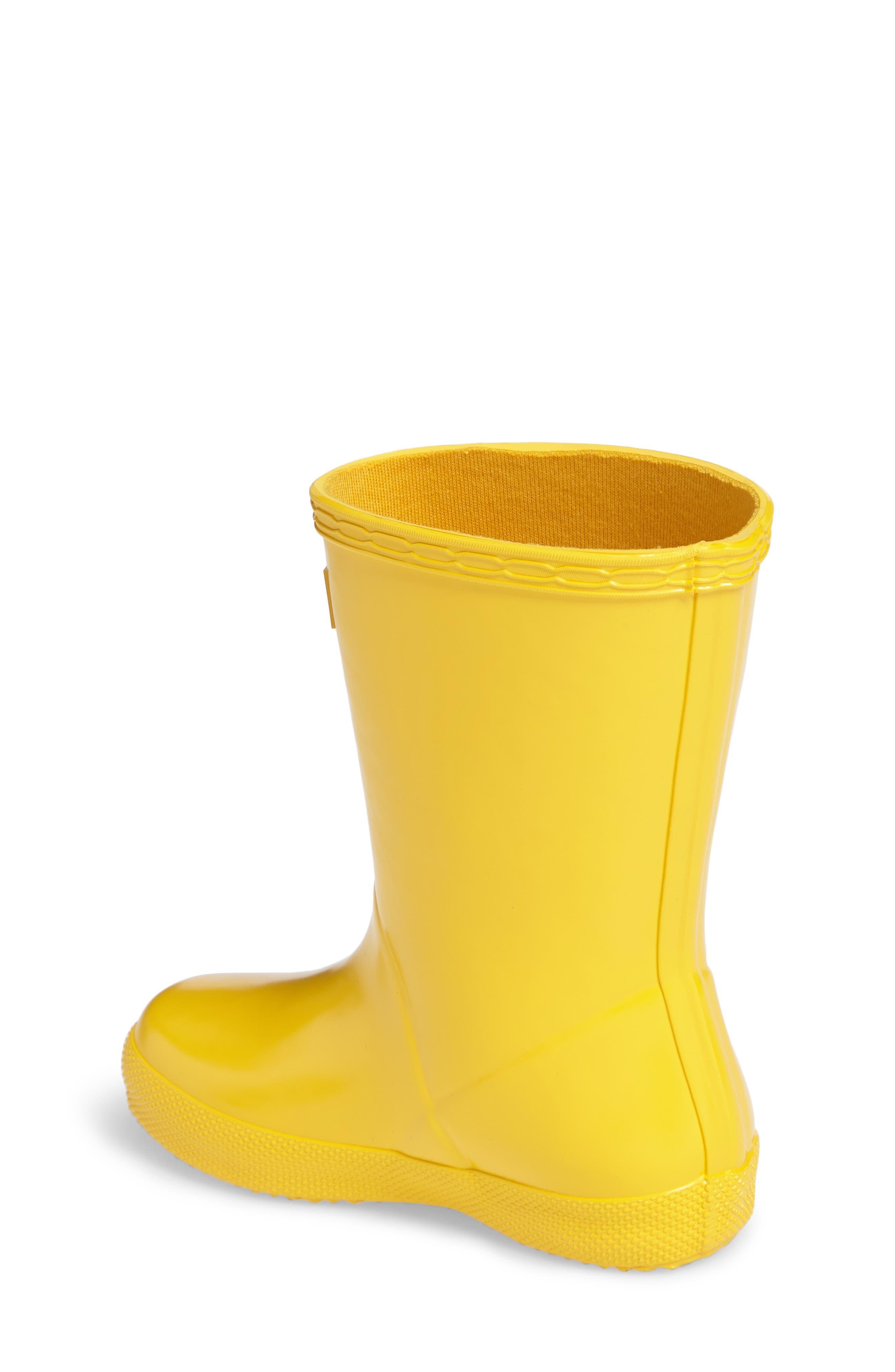 'First Gloss' Rain Boot,                             Alternate thumbnail 2, color,                             Yellow Gloss