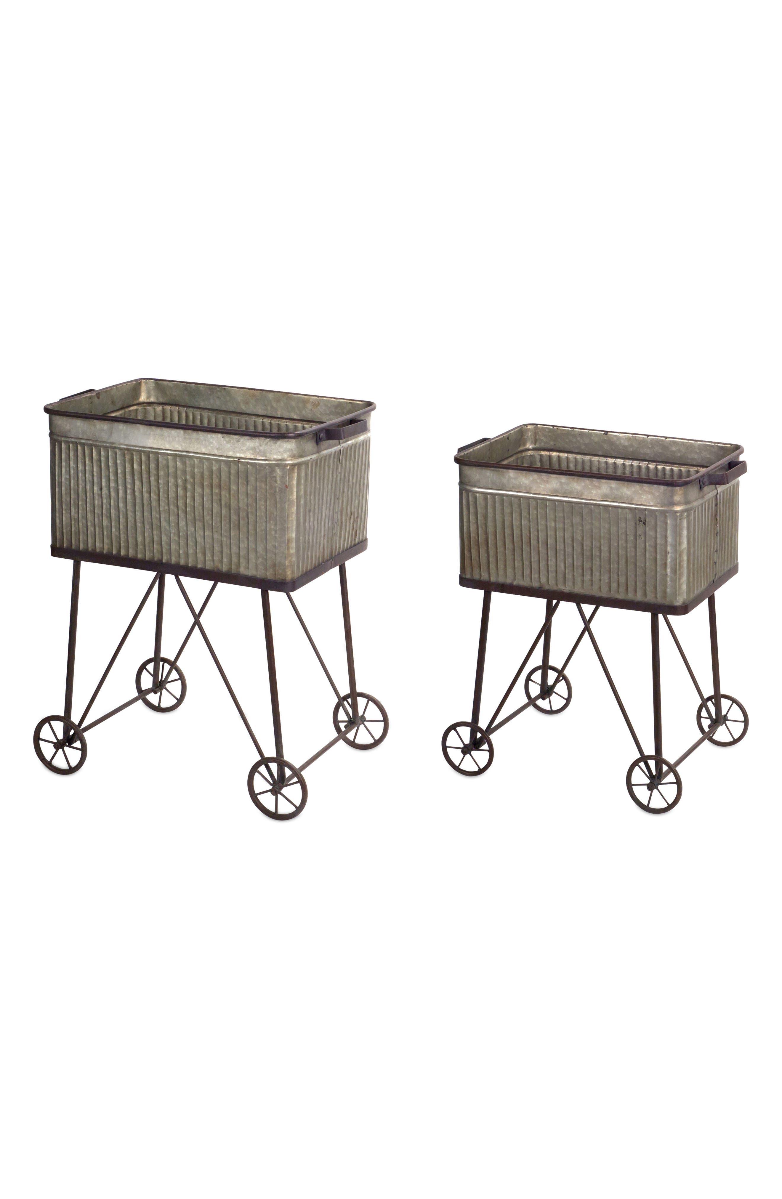 Set of 2 Wash Tubs,                         Main,                         color, Grey