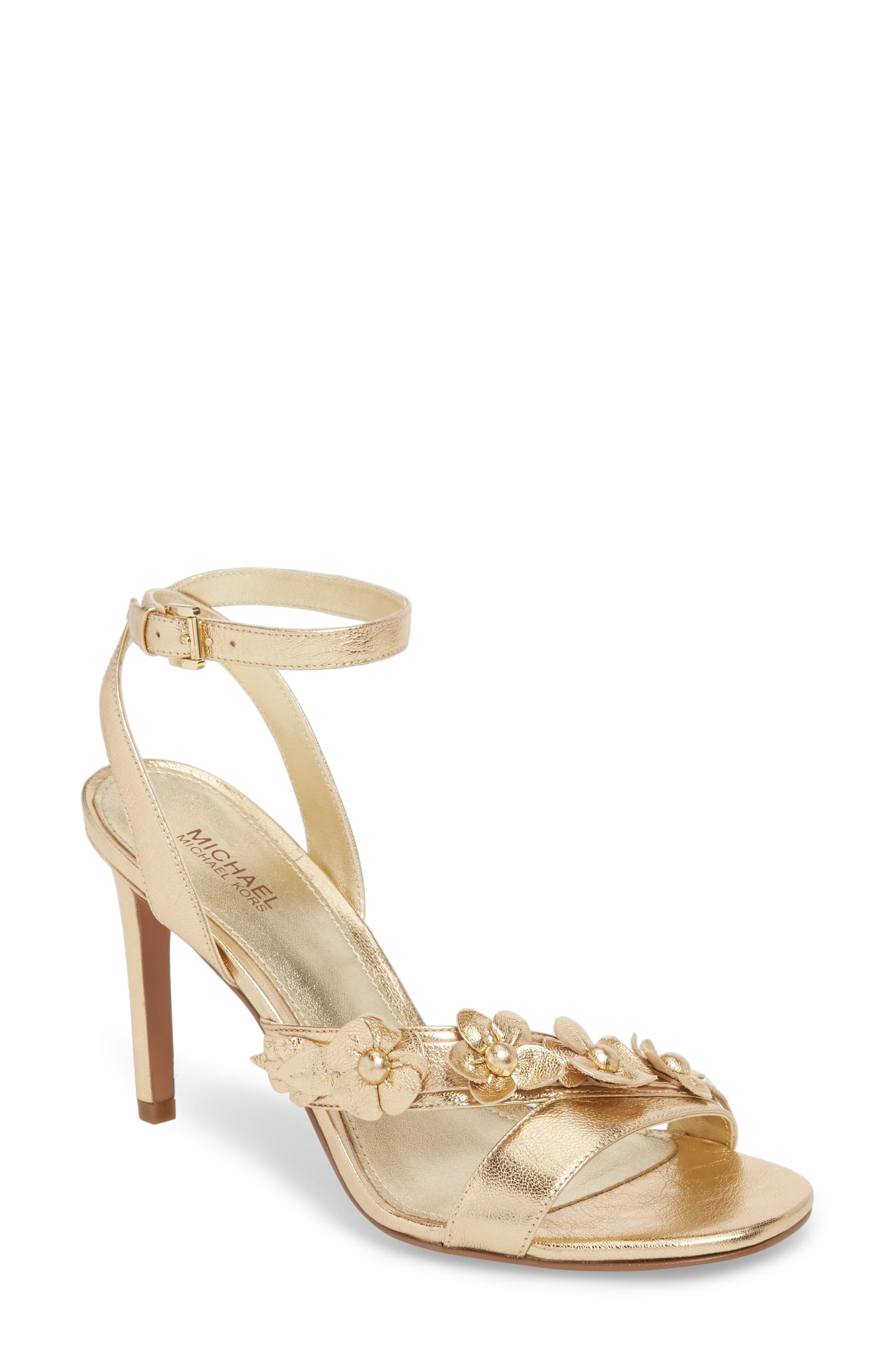 Tricia Sandal,                         Main,                         color, Pale Gold Leather
