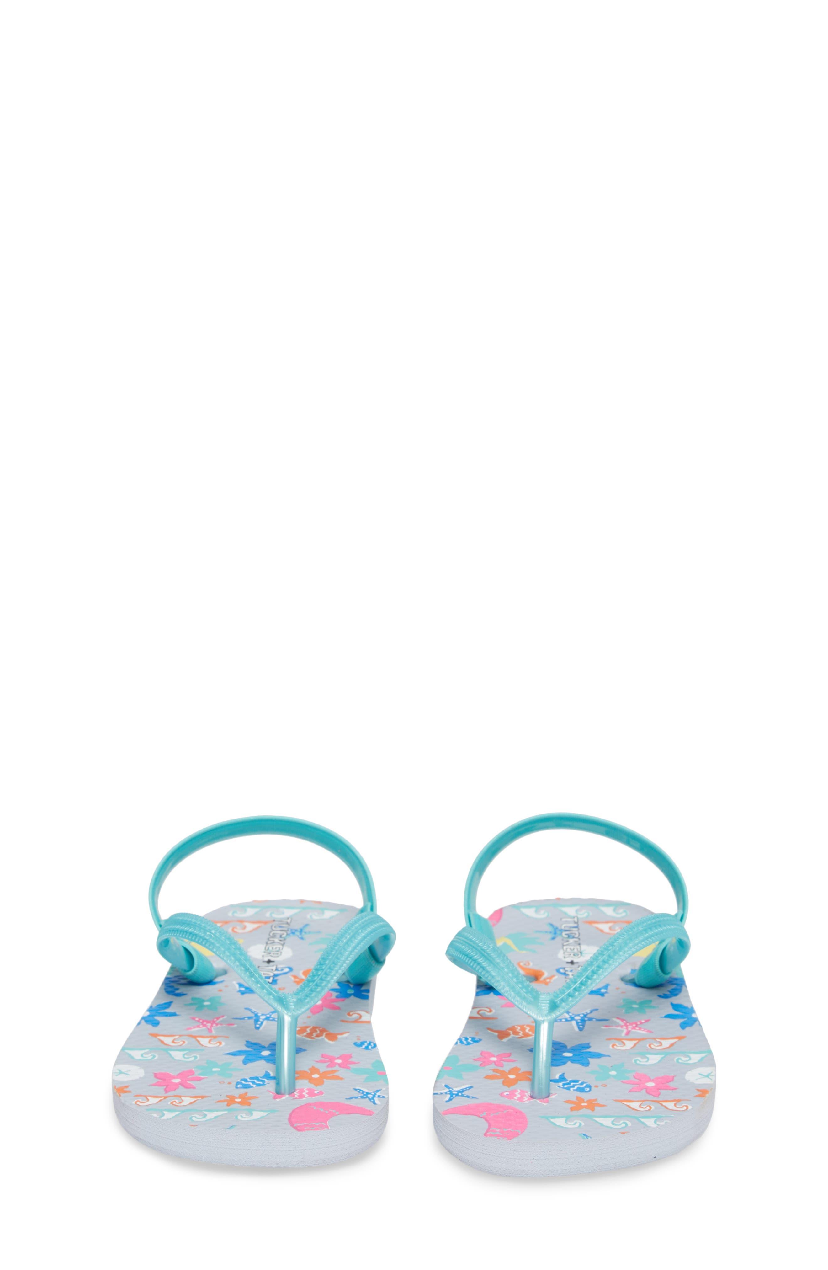 Annabelle Flip Flop,                             Alternate thumbnail 5, color,                             Turquoise Mermaid
