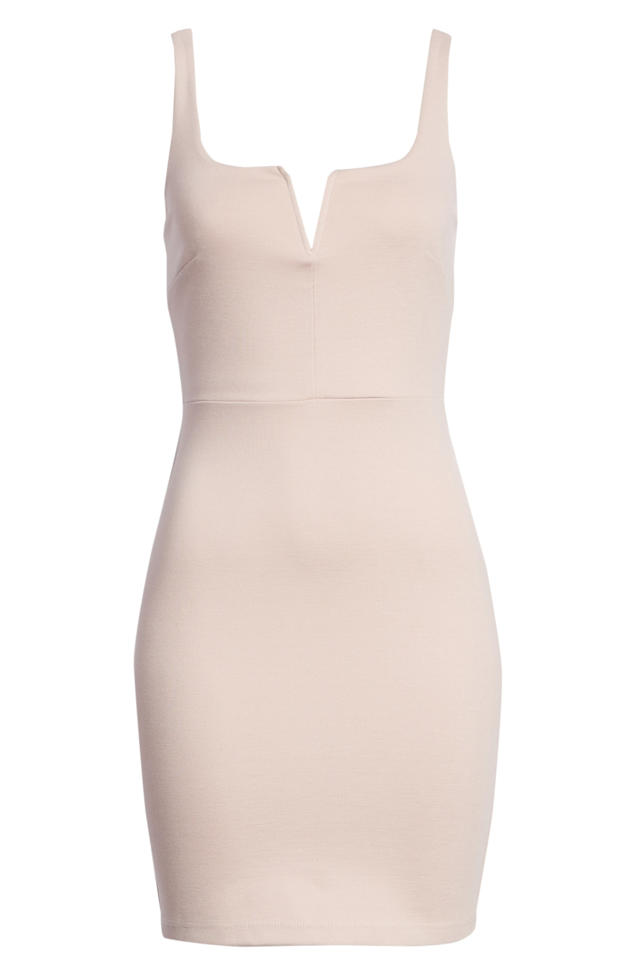 Body-Con Minidress,                             Alternate thumbnail 6, color,                             Dusty Rose