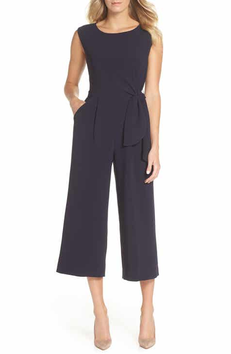 Leith Deep V-Neck Jumpsuit (Plus Size) by LEITH