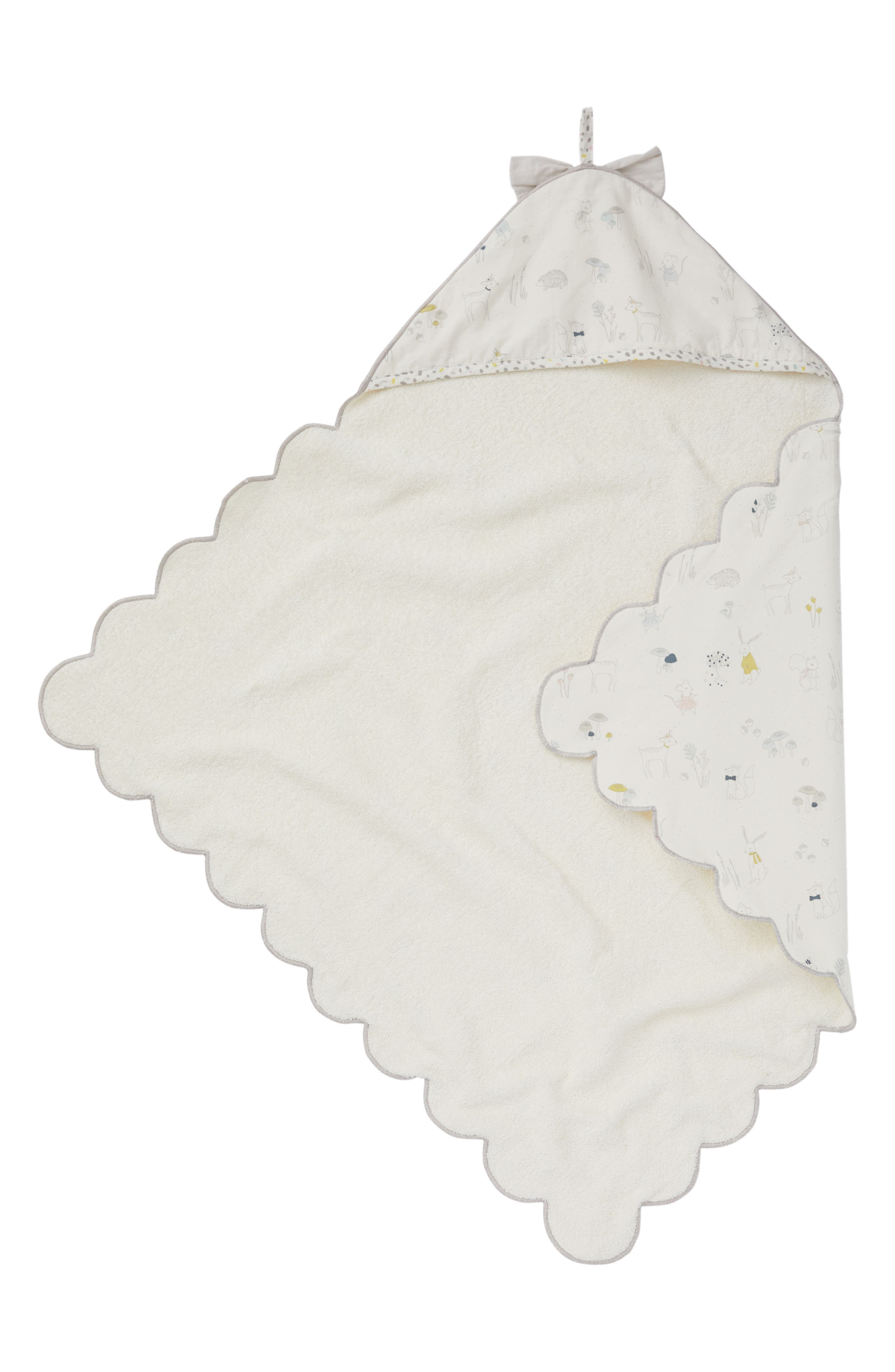 Magical Forest Hooded Towel,                             Main thumbnail 1, color,                             Ivory