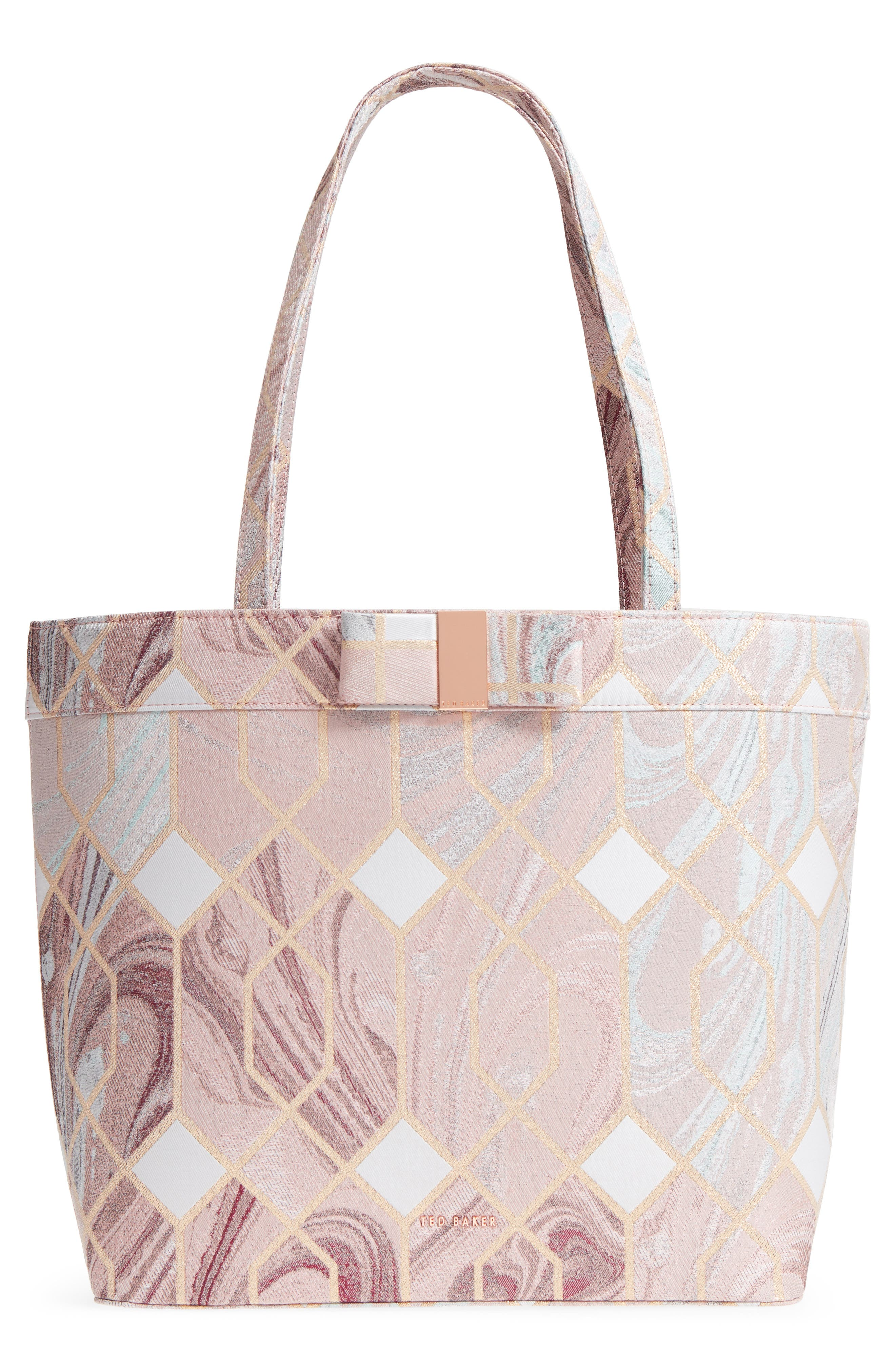 Ted Baker London Sea of Clouds Satin Shopper