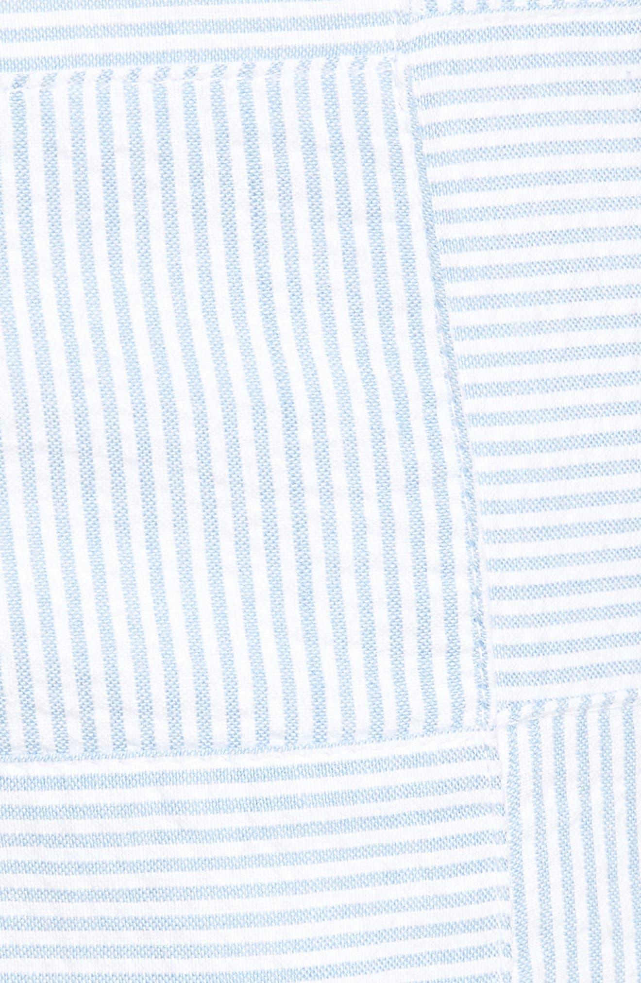 Patchwork Seersucker Breaker Shorts,                             Alternate thumbnail 5, color,                             Ocean Breeze