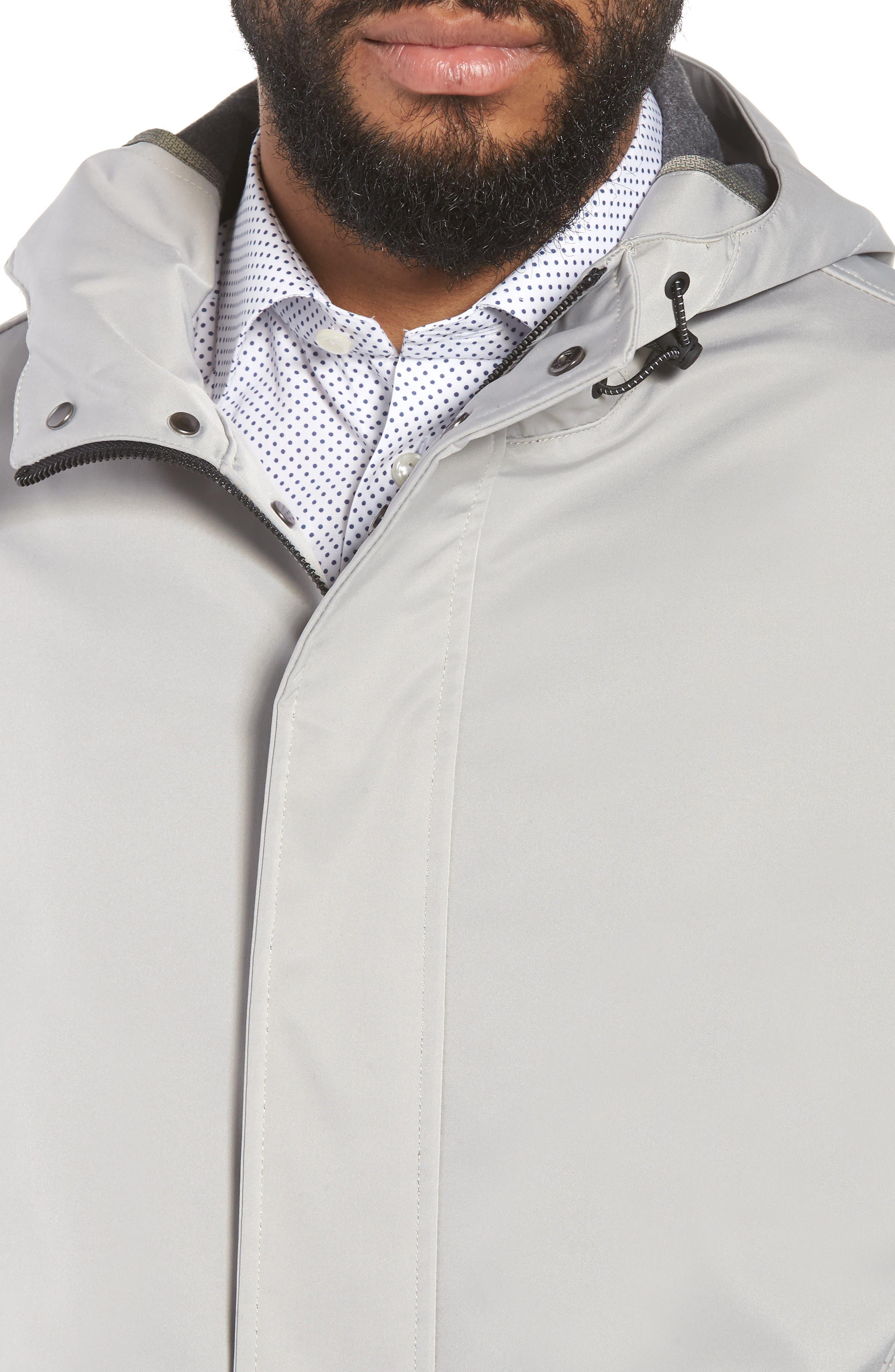 Verner Hooded Mac Jacket,                             Alternate thumbnail 3, color,                             Taupe