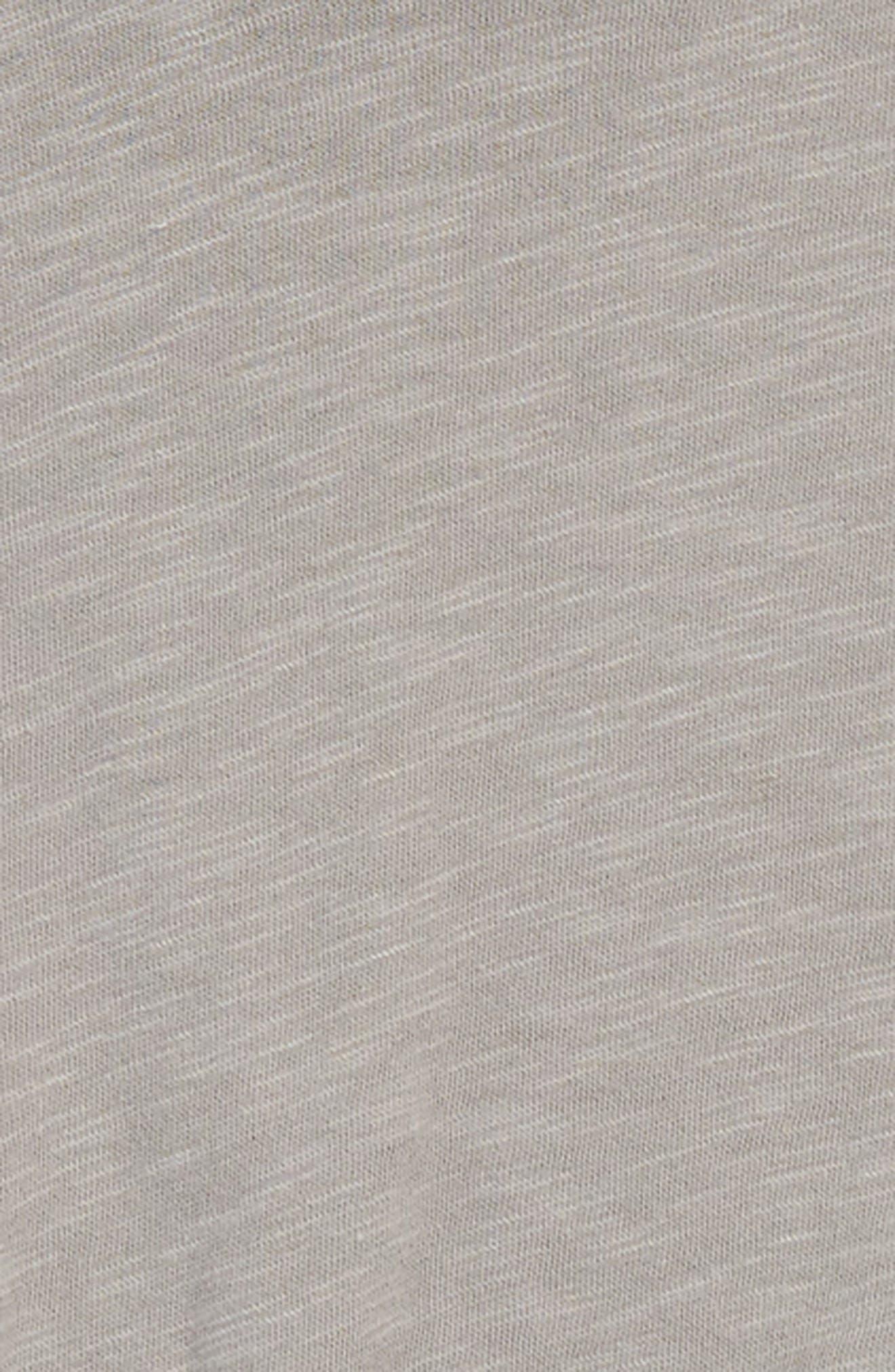 Knotted Ringer Tee,                             Alternate thumbnail 2, color,                             Grey Cloudburst