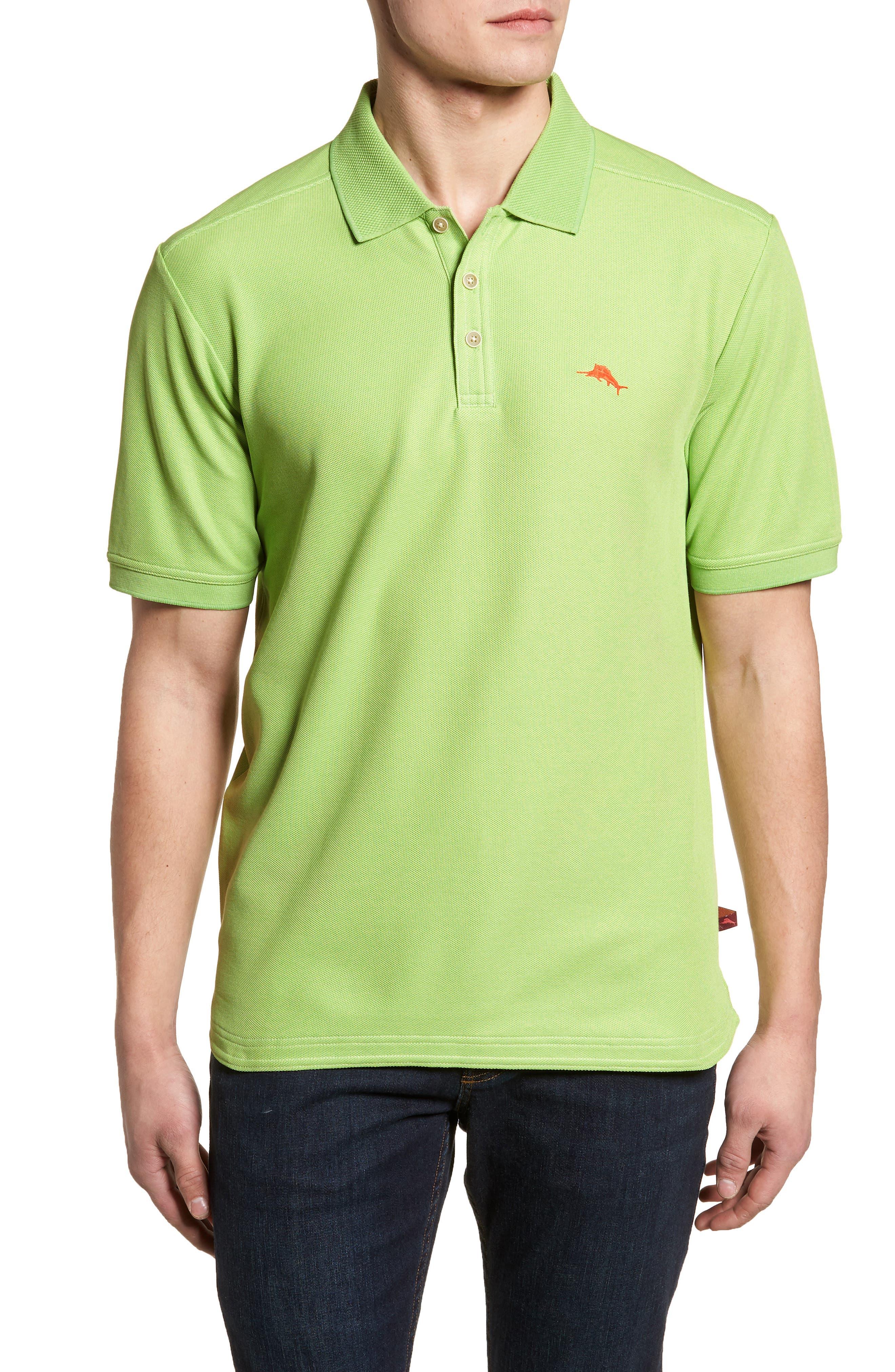 The Emfielder Piqué Polo,                         Main,                         color, Caicos Green