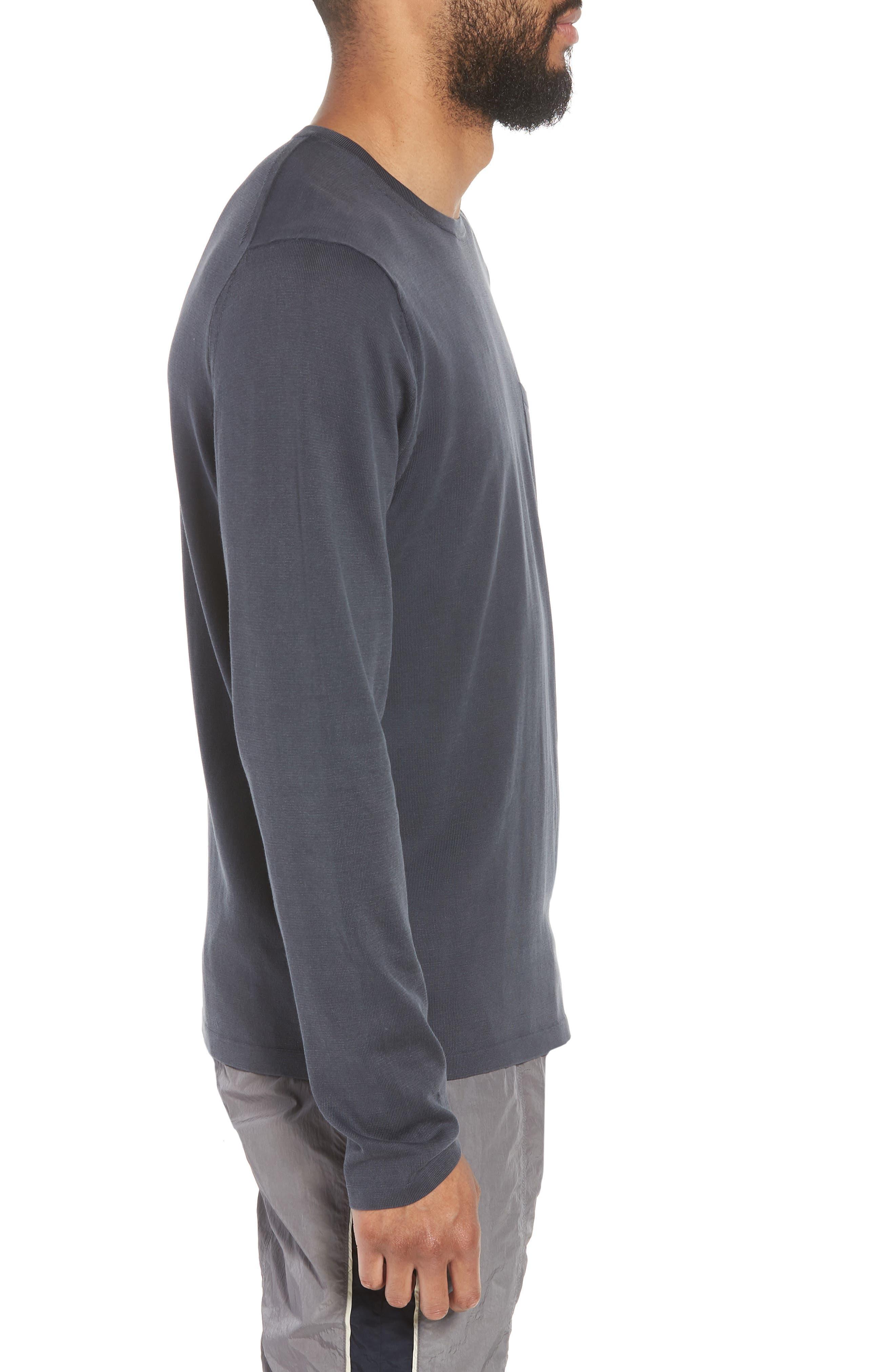 Crewneck Cotton Sweater,                             Alternate thumbnail 3, color,                             Titanium