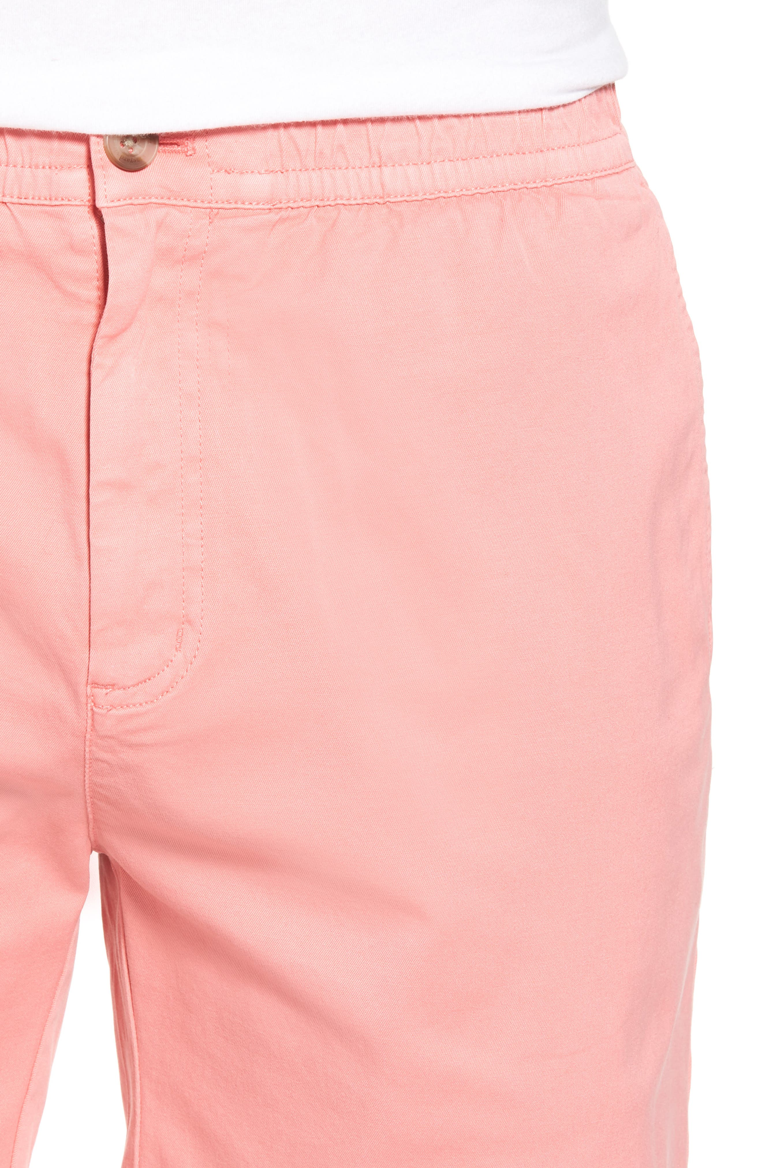 Jetty Stretch Cotton Shorts,                             Alternate thumbnail 4, color,                             Cape Coral