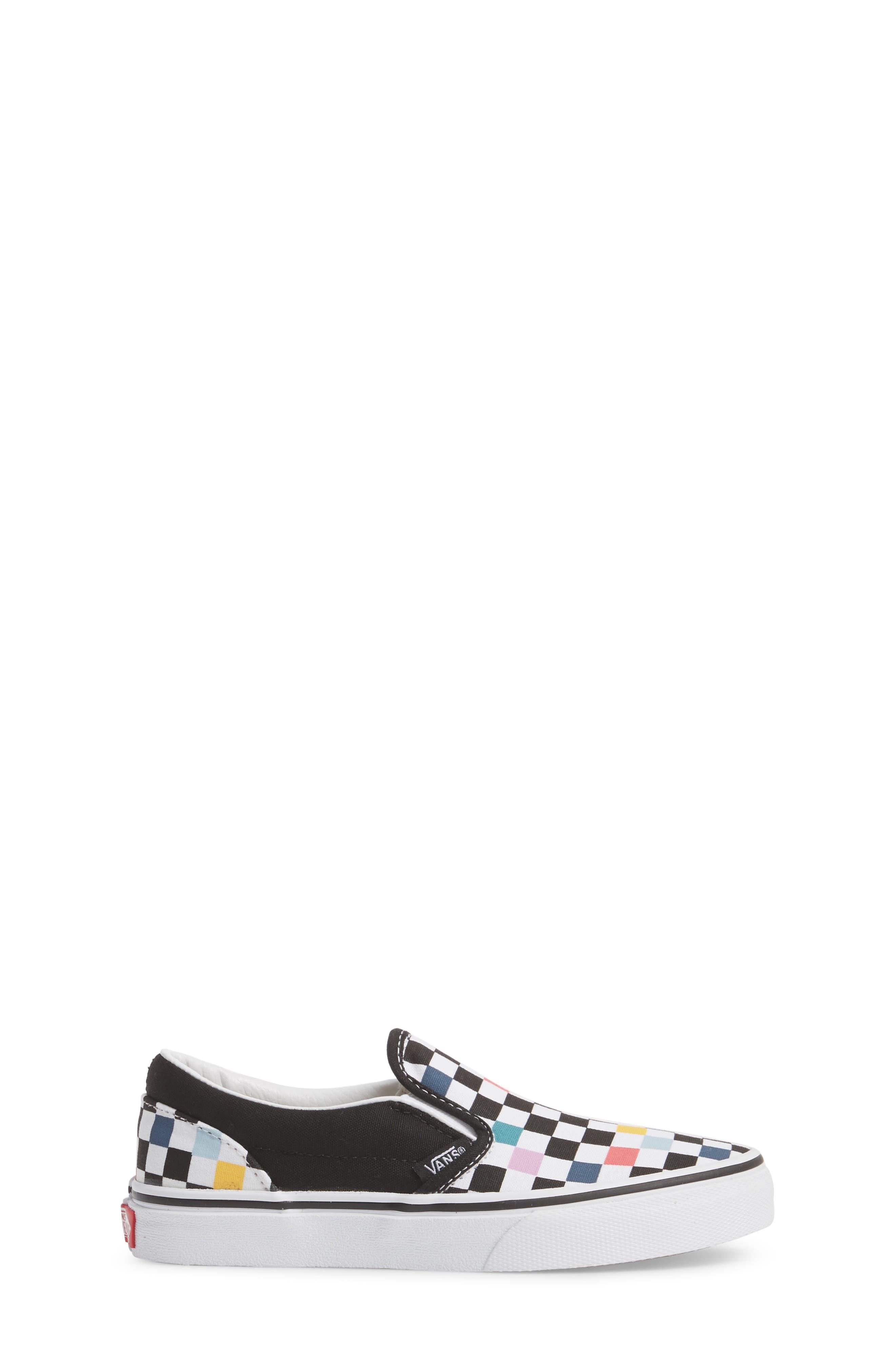 Party Check Slip-On Sneaker,                             Alternate thumbnail 3, color,                             Party Checker Multi/ Black